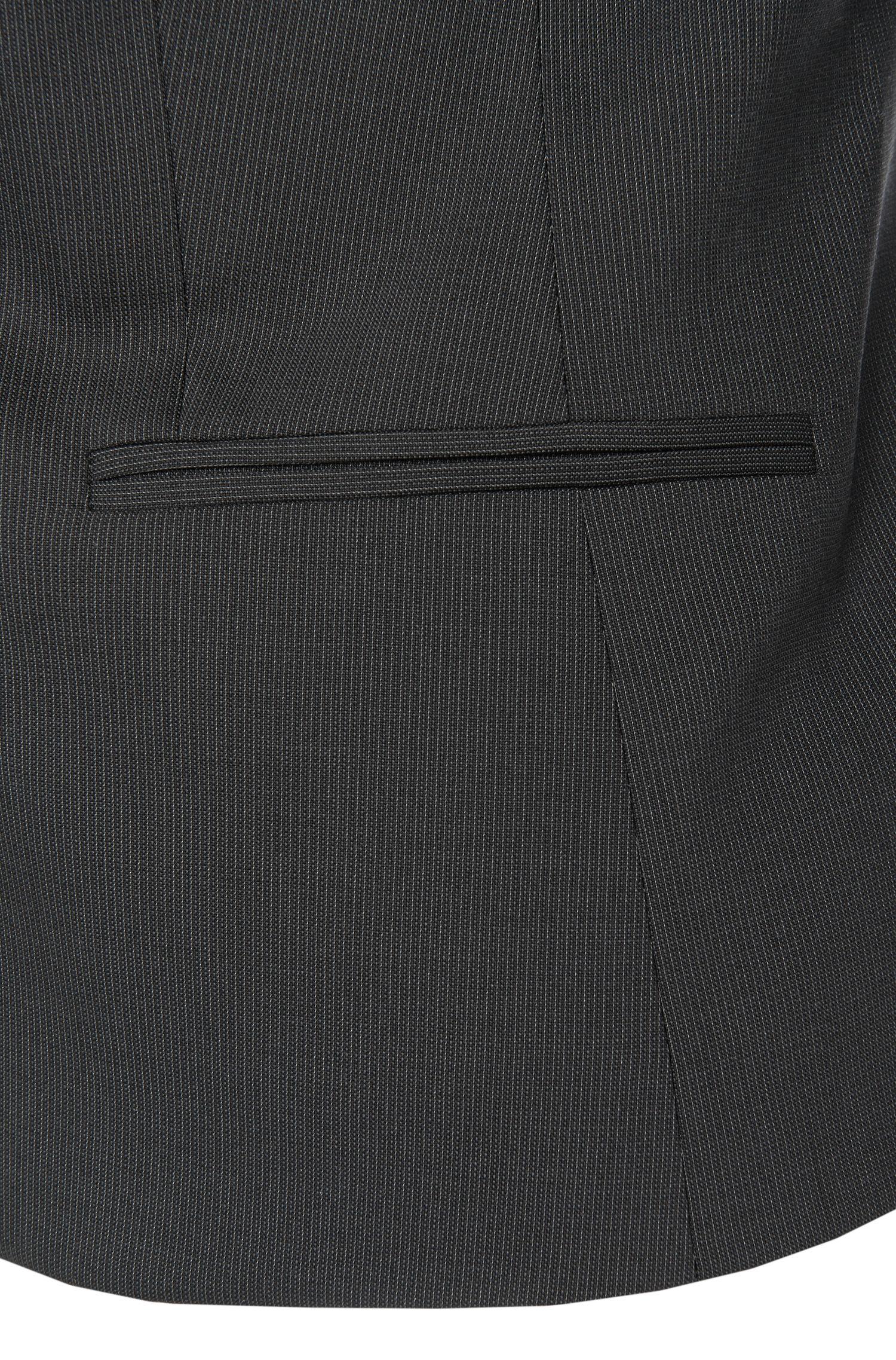 Blazer Slim Fit en laine vierge extensible: «Atisa»