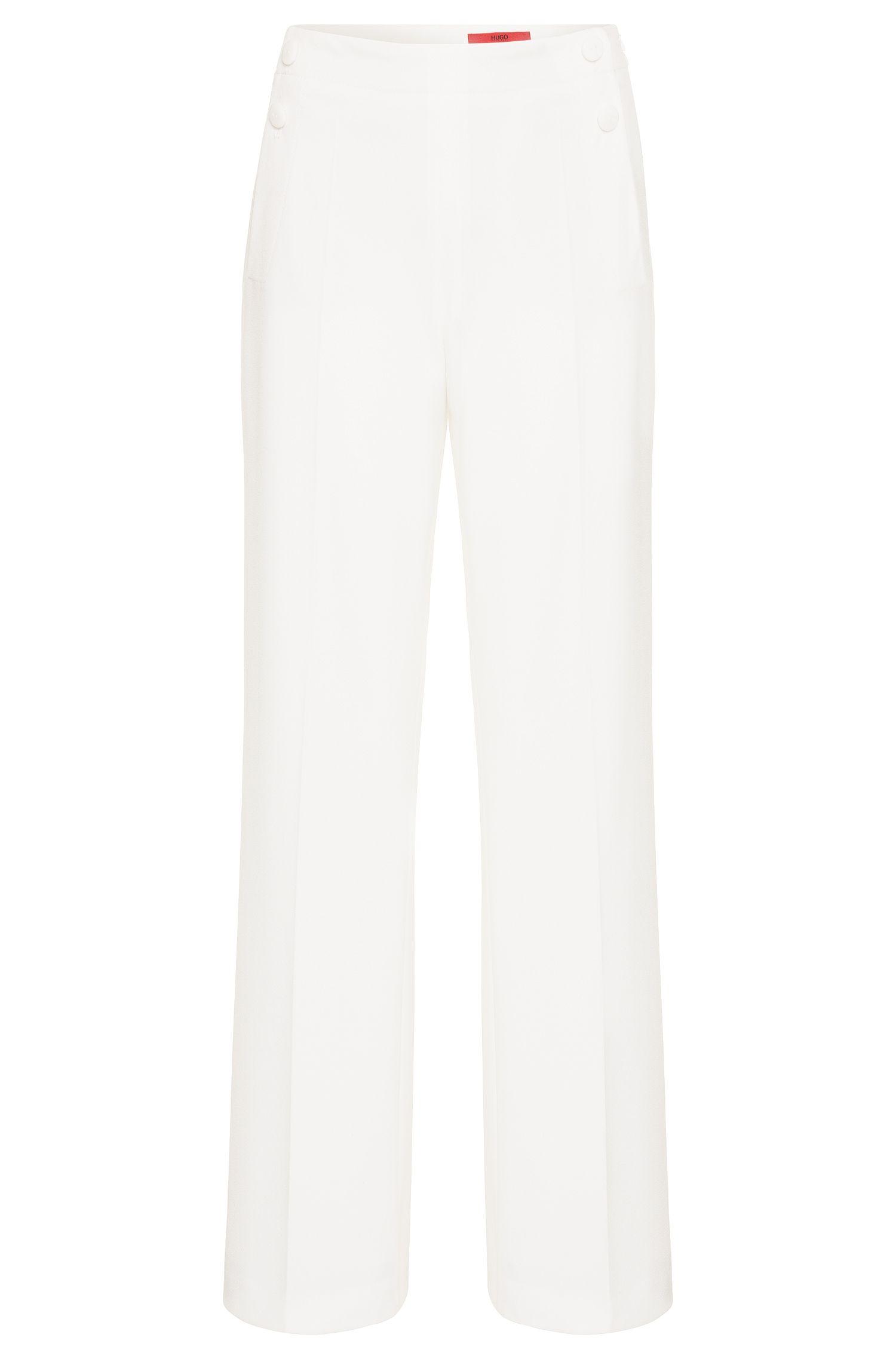 Pantalon à taille haute en tissu extensible: «Hotaru»