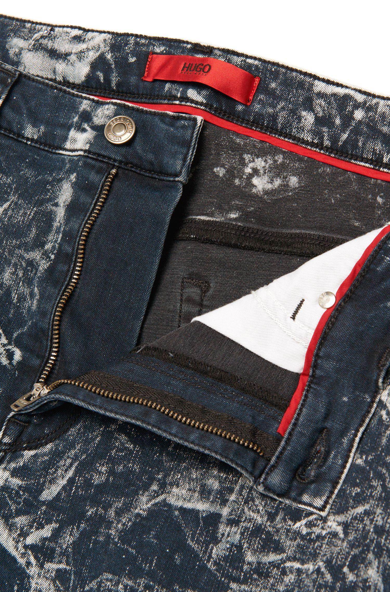Slim-fit jeans van een elastische katoenmix: 'HUGO 734'