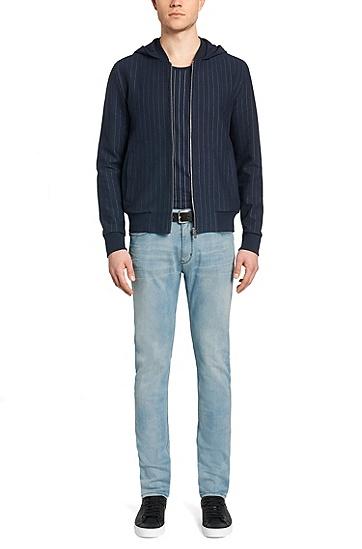 Extra Slim-Fit Jeans aus elastischem Baumwoll-Mix: 'HUGO 734', Hellblau