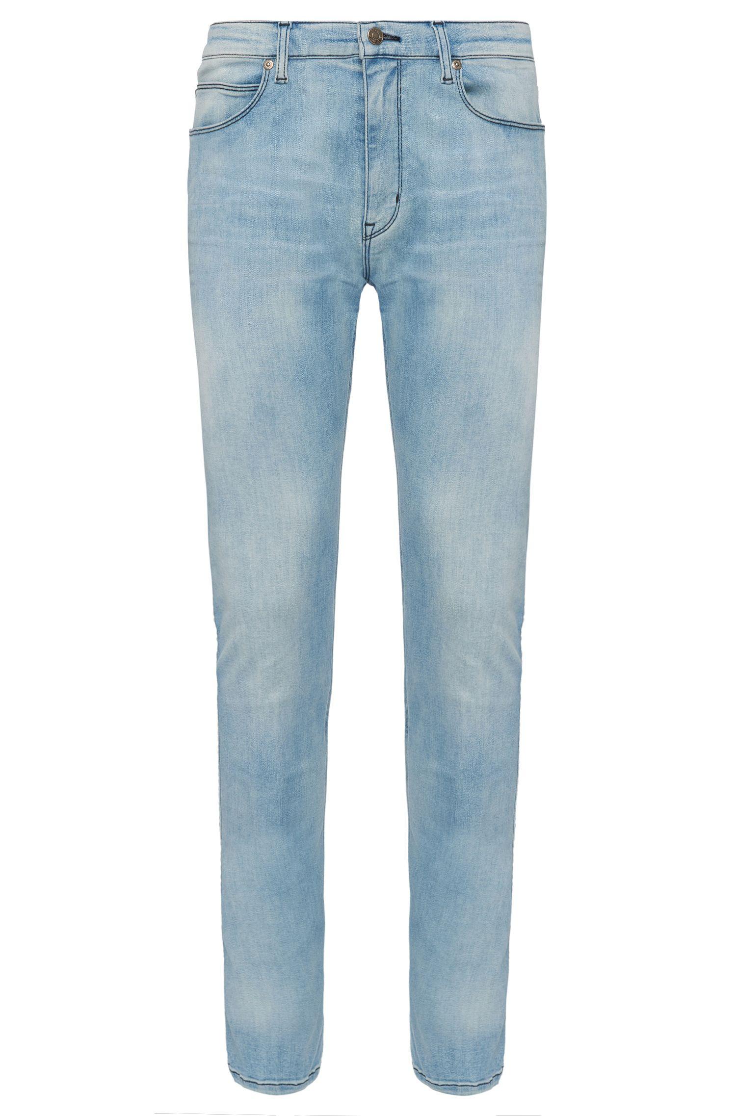 Extra slim-fit jeans van een elastische katoenmix: 'HUGO 734'