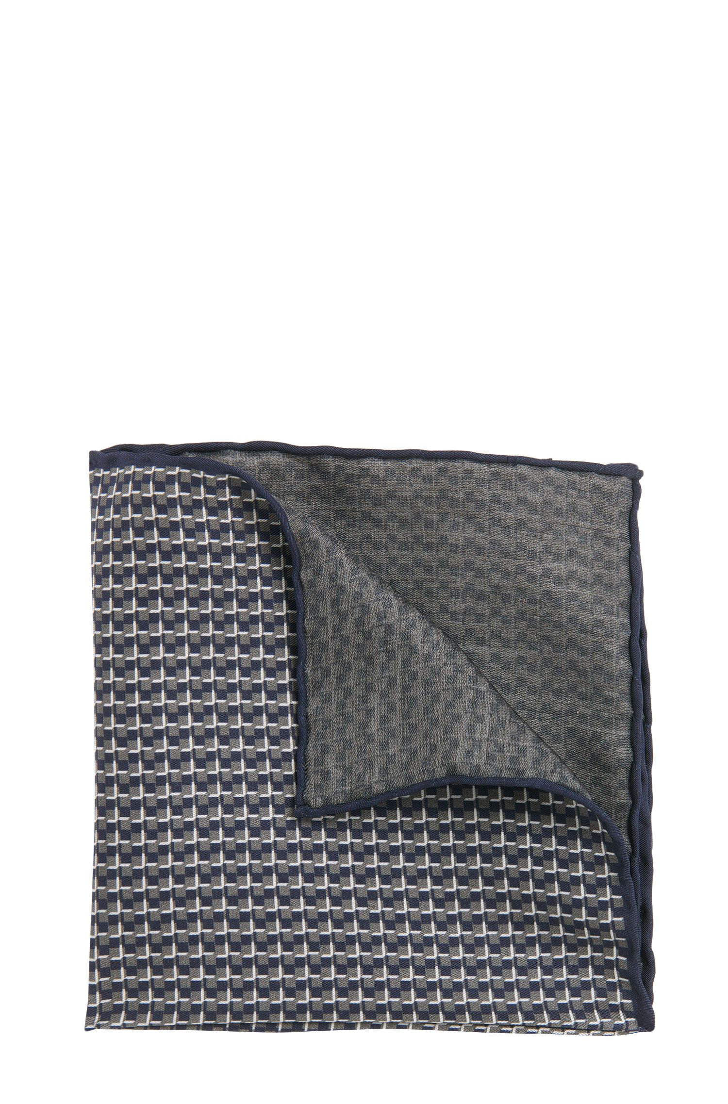 Patterned pocket square in silk: 'T-Pocket sq. cm 33x33'