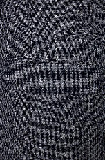 Regular-Fit Sakko aus reiner Schurwolle; 'Johnston3', Blau