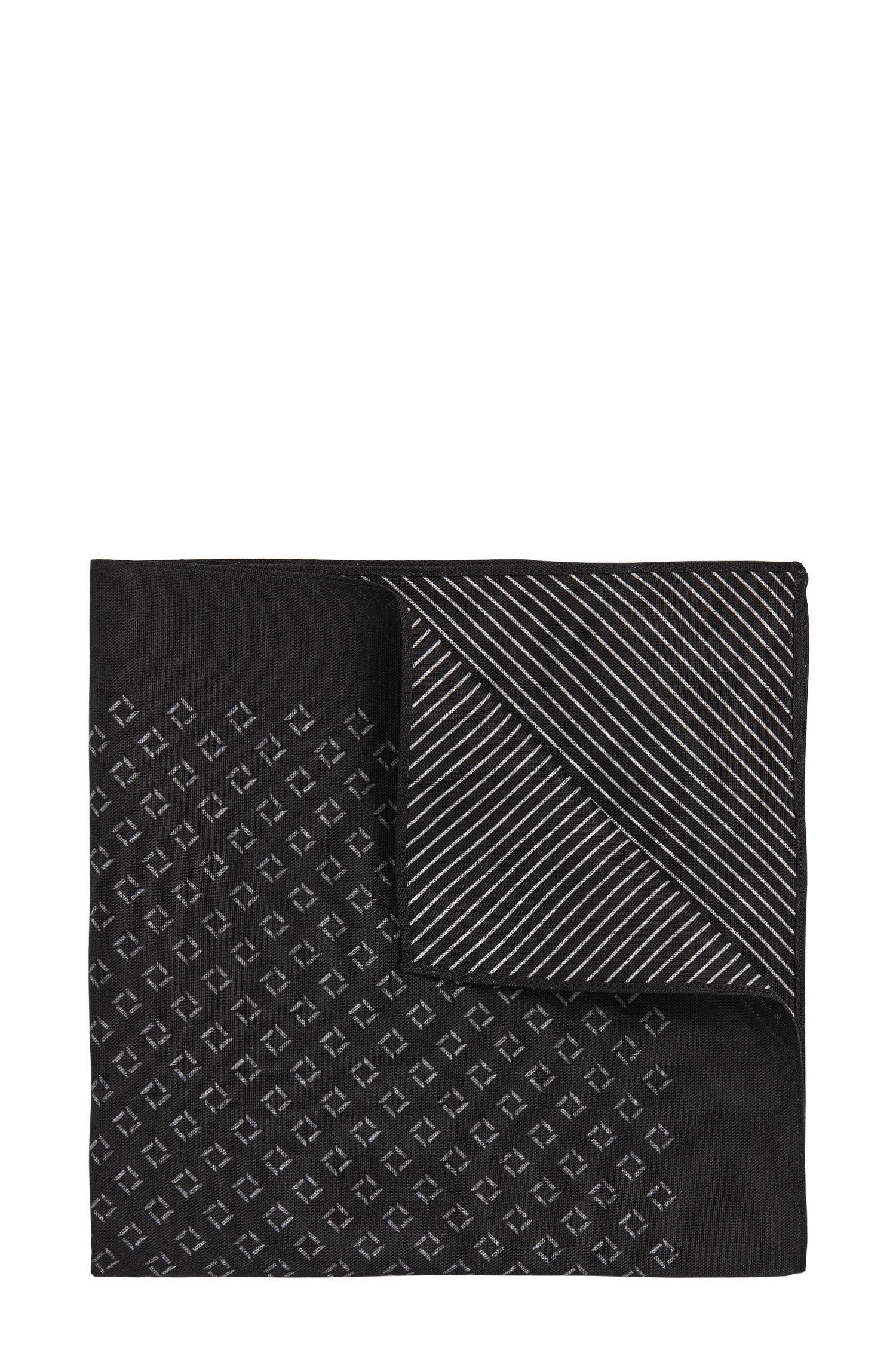 Pochette da taschino a disegni in pura seta: 'Pocket sq. 33x33cm'