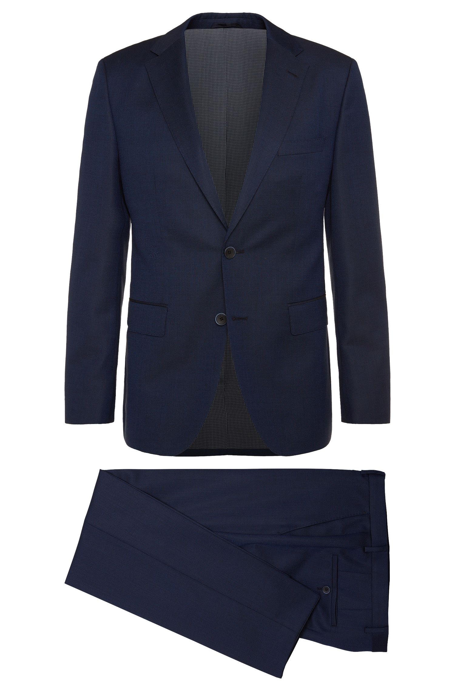 Regular-fit suit in a new-wool blend with silk and mohair: 'Jewels/Linus'