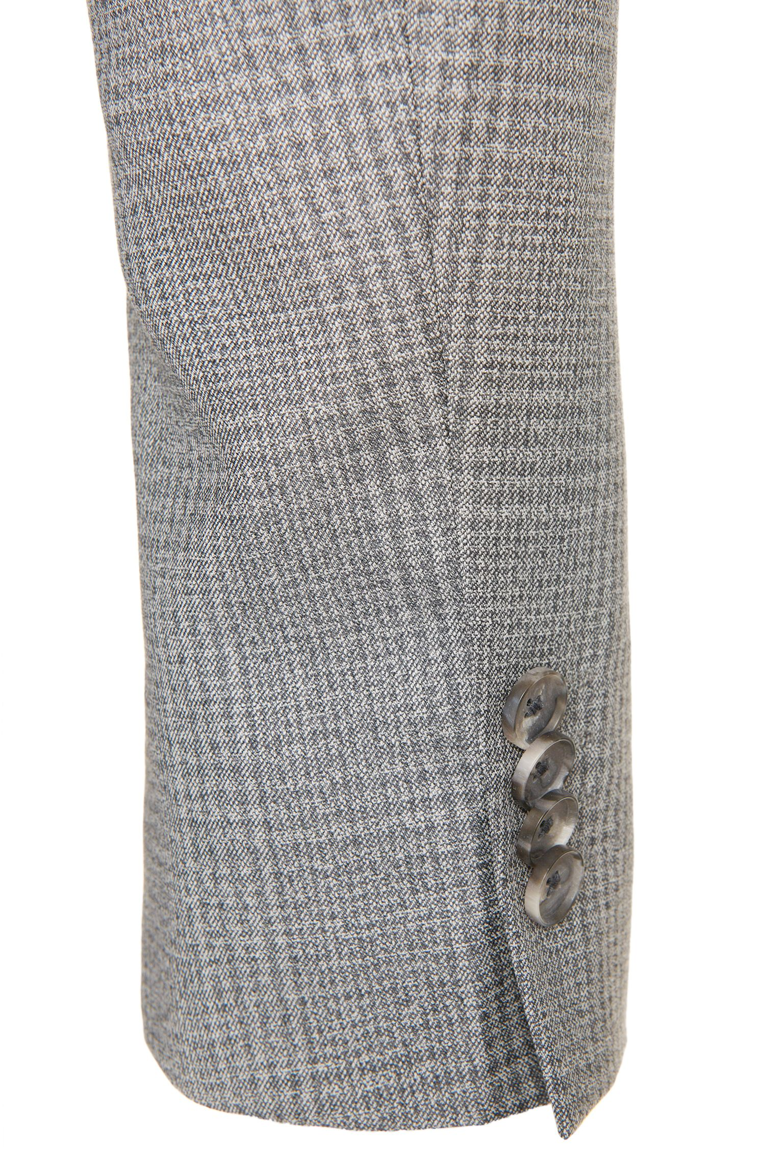 Costume Slim Fit à carreaux en pure laine vierge: «Nortan/Benno»