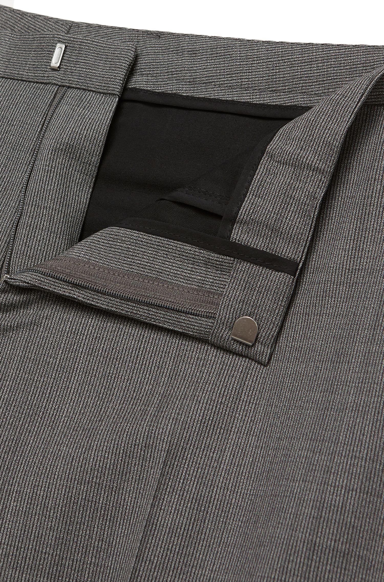 Fein gestreifter Extra Slim-Fit Anzug aus Schurwolle: 'Rocco/Wyatt'