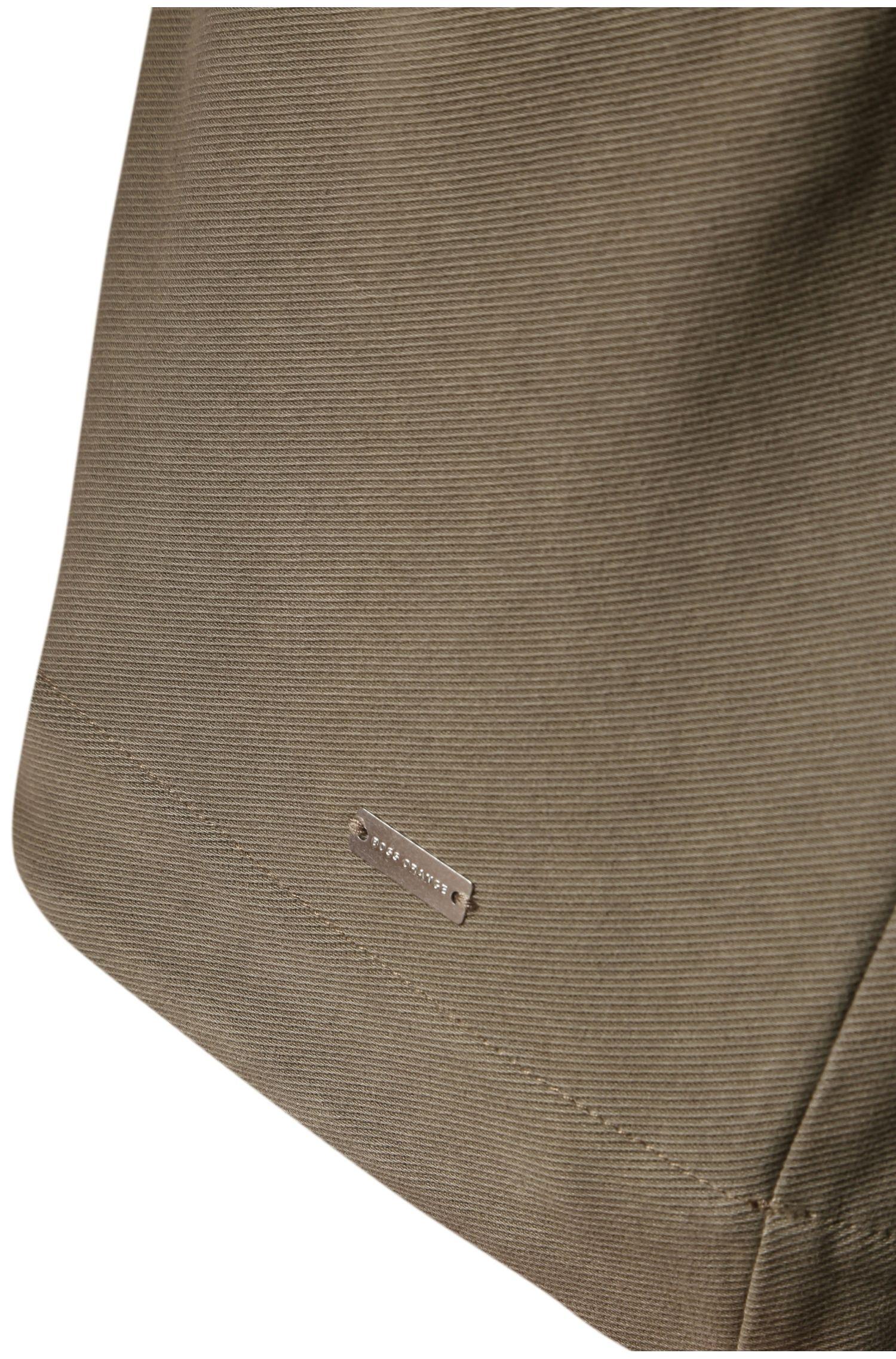 Jas van elastische katoen met capuchon: 'Zoot'