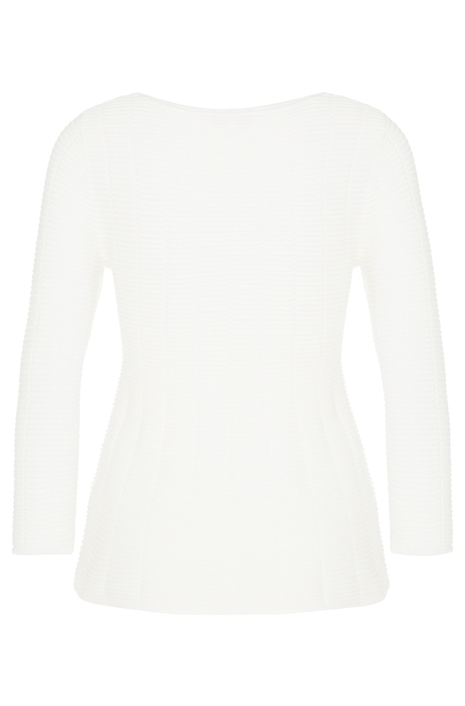 Pullover aus Baumwoll-Mix mit ausgestelltem Saum: 'Scilla'