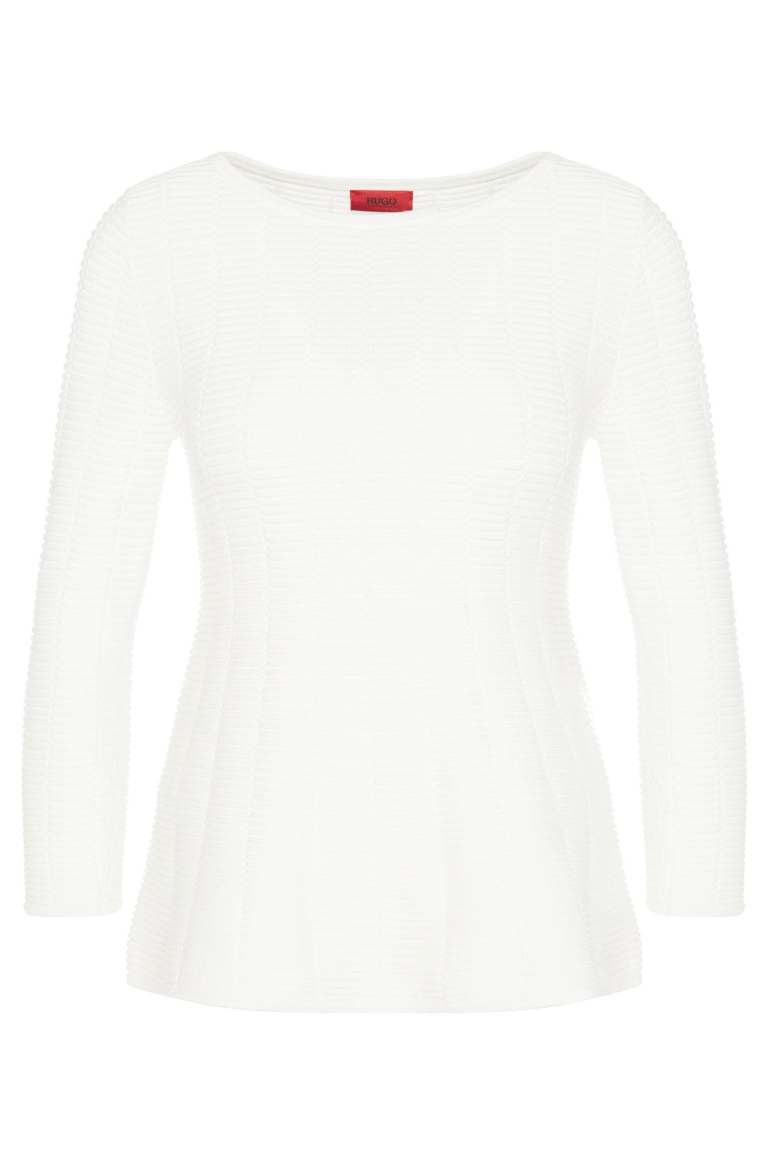 Jersey en mezcla de algodón con dobladillo acampanado: 'Scilla'
