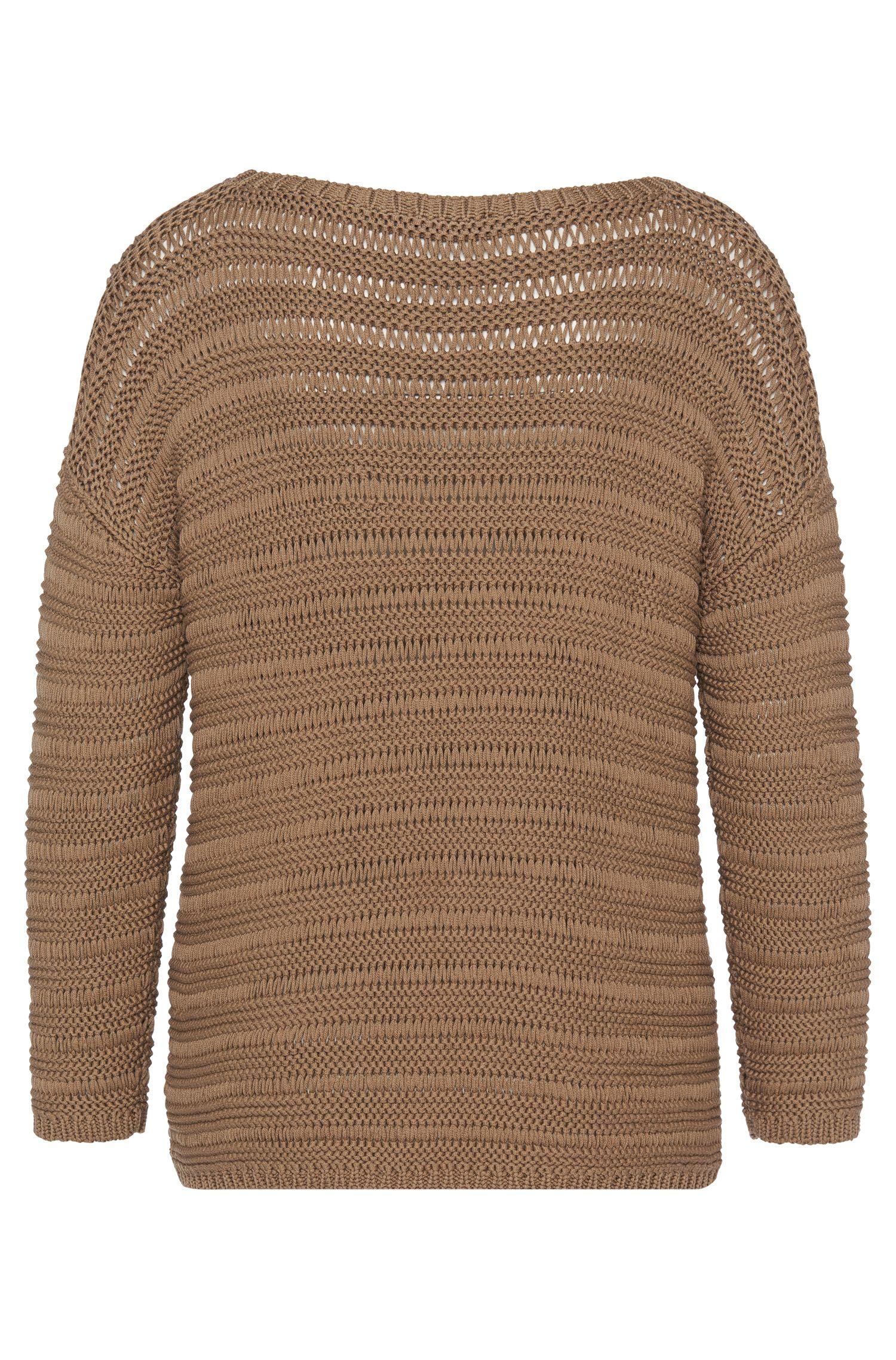 Grofgebreide trui van zuivere katoen: 'Silvetta'