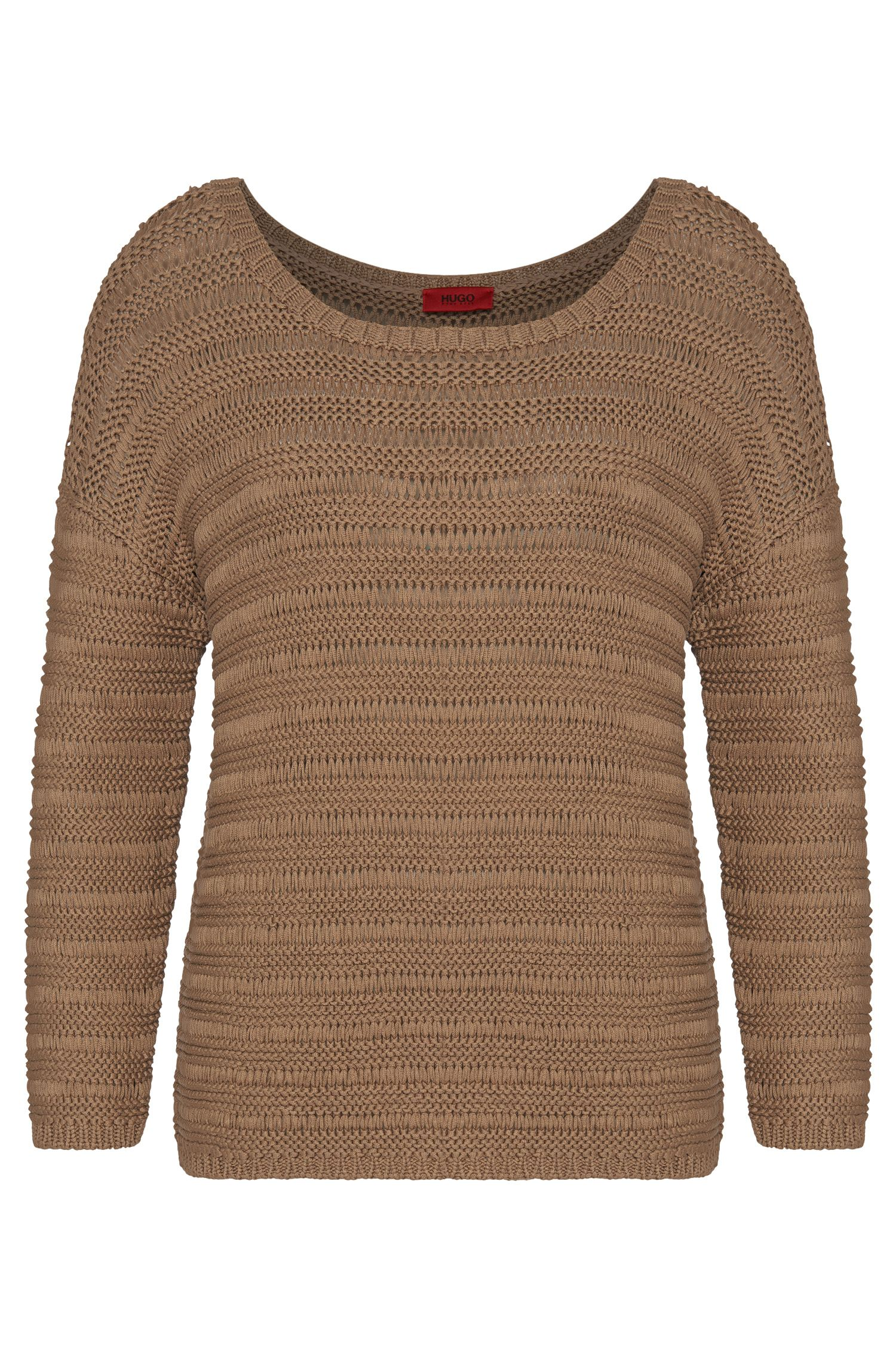 Chunky knit sweater in pure cotton: 'Silvetta'