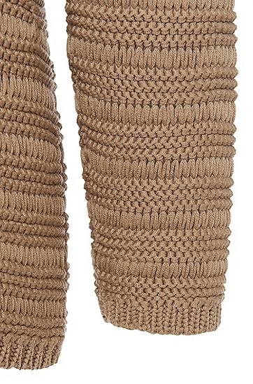 Grobstrick-Pullover aus reiner Baumwolle: 'Silvetta', Hellbeige