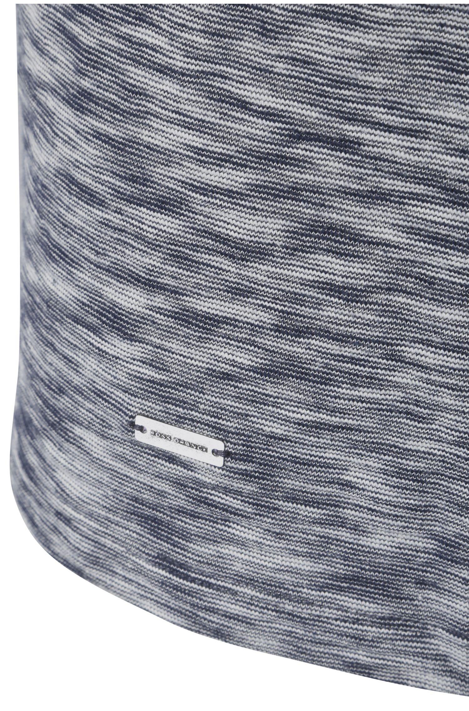 T-shirt à manches longues Comfort Fit en coton avec de la viscose: «Tyner»
