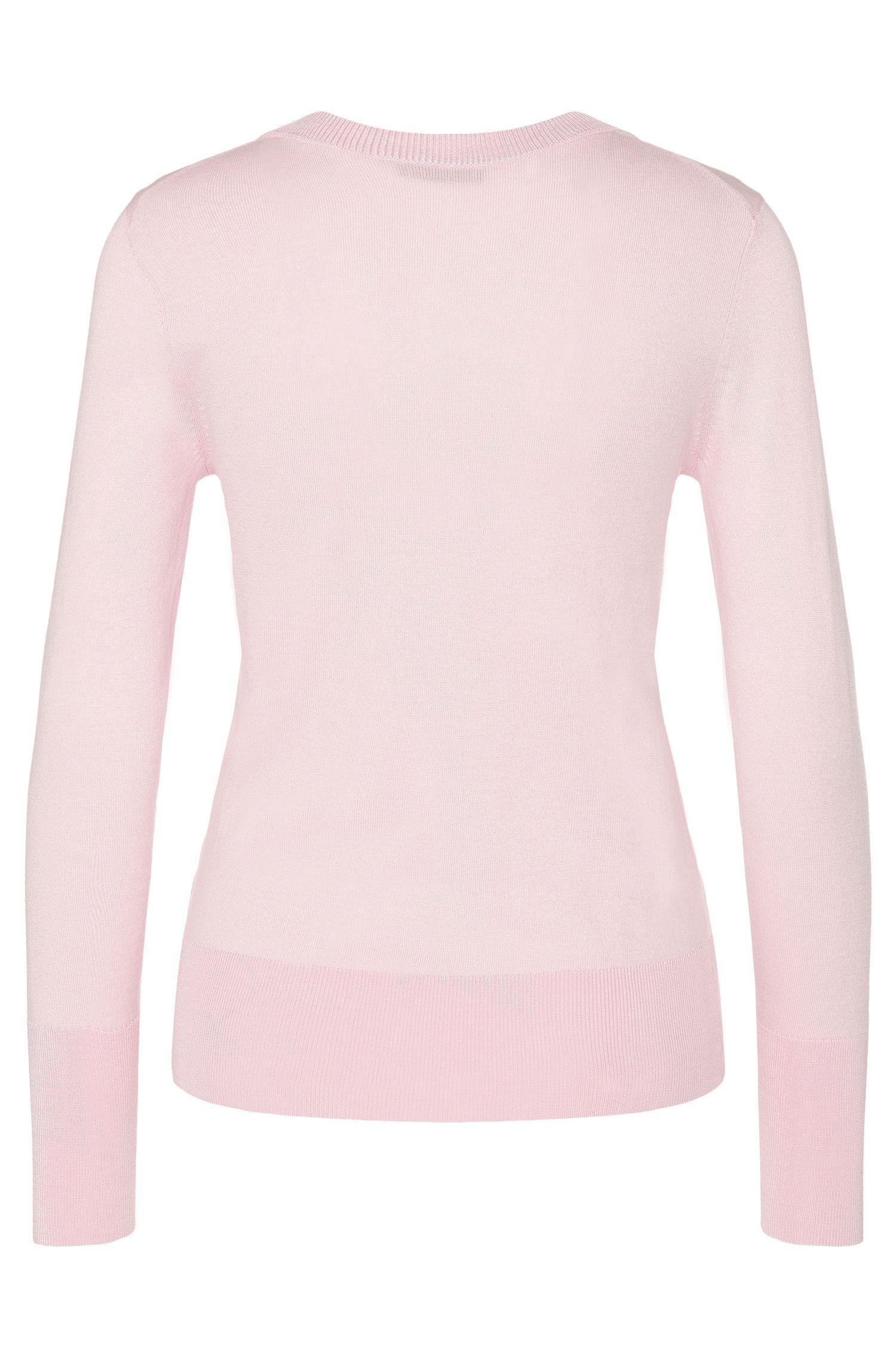 Pullover aus Seiden-Mix mit breitem Rippenbund: 'Senta'