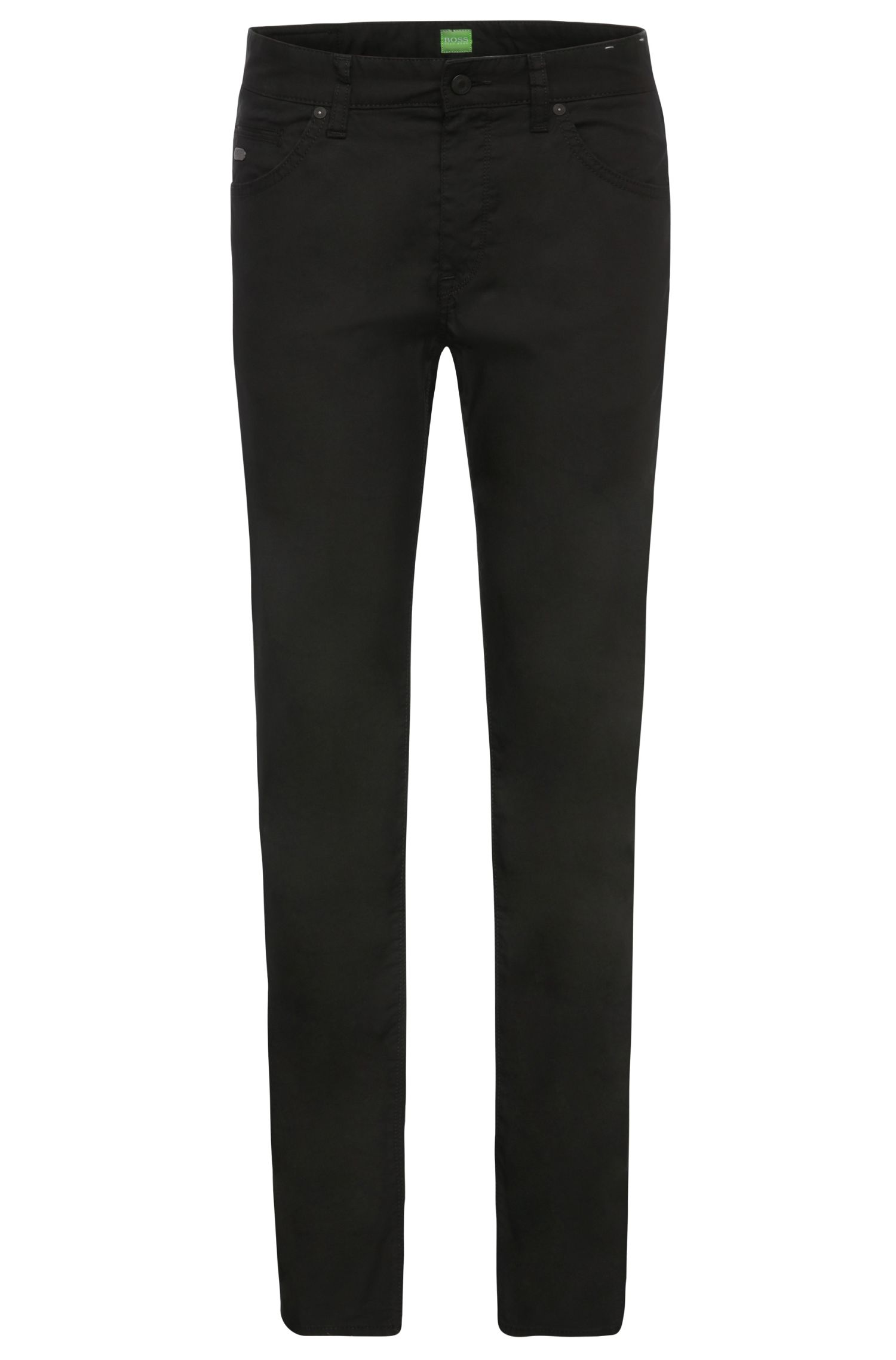Regular-fit trousers in a stretchy cotton blend: 'C-Maine1-1-20'