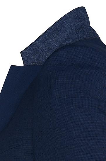 Slim-Fit Anzug aus reiner Schurwolle: 'Aeron2/Hamen2', Dunkelblau