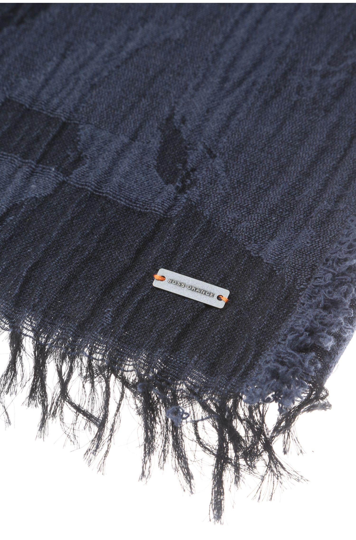 Écharpe en coton imprimé froissé: «Neo»