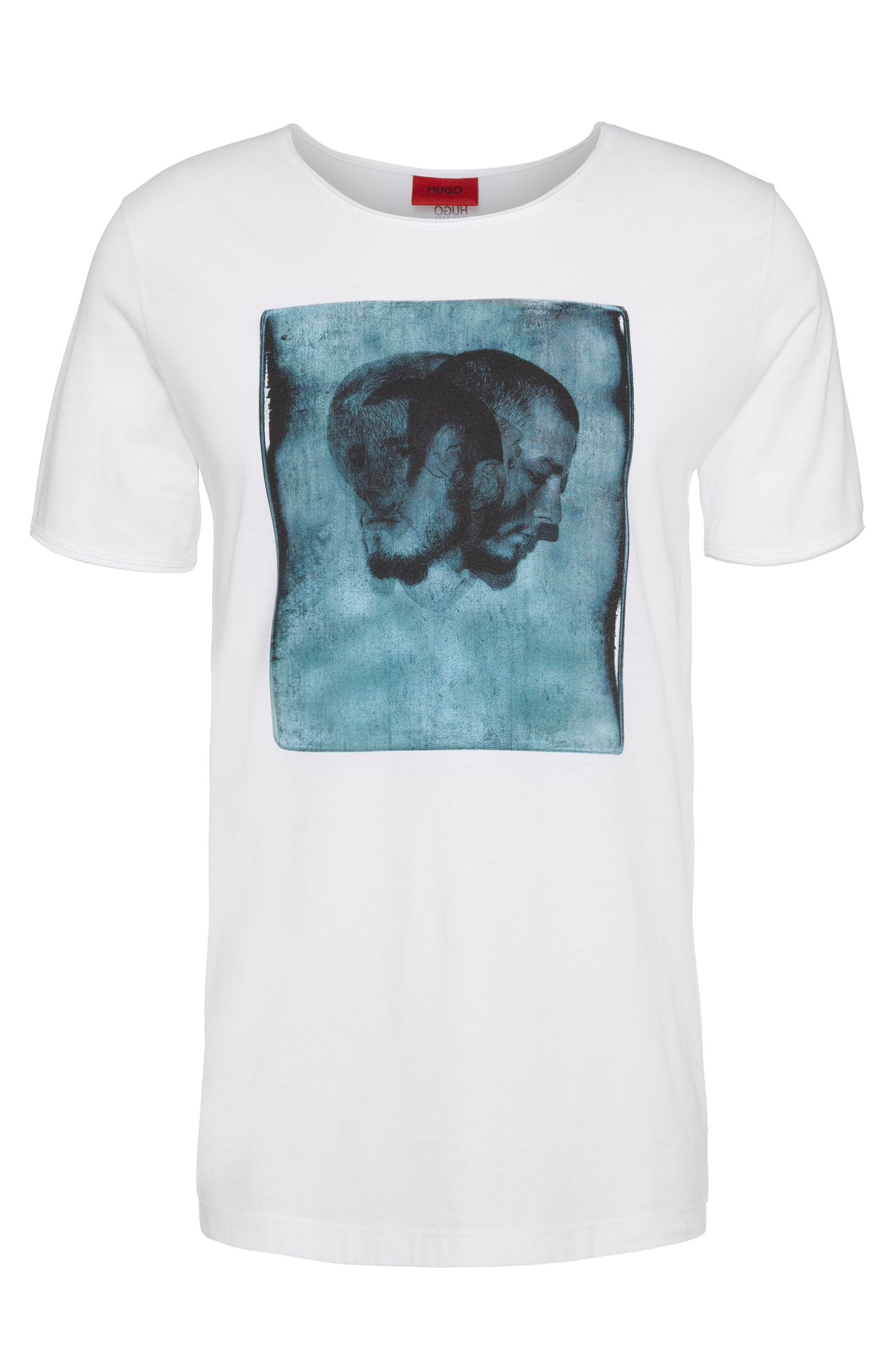 Loose-fit T-shirt van katoen met frontprint: 'Driple'