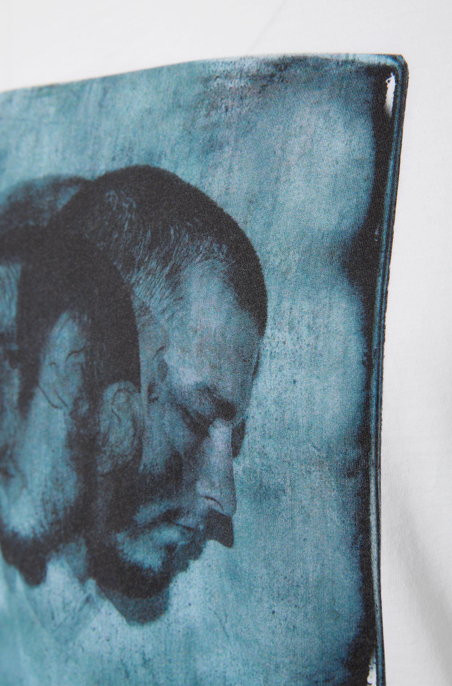 Loose-Fit T-Shirt aus Baumwolle mit Front-Print: 'Driple'