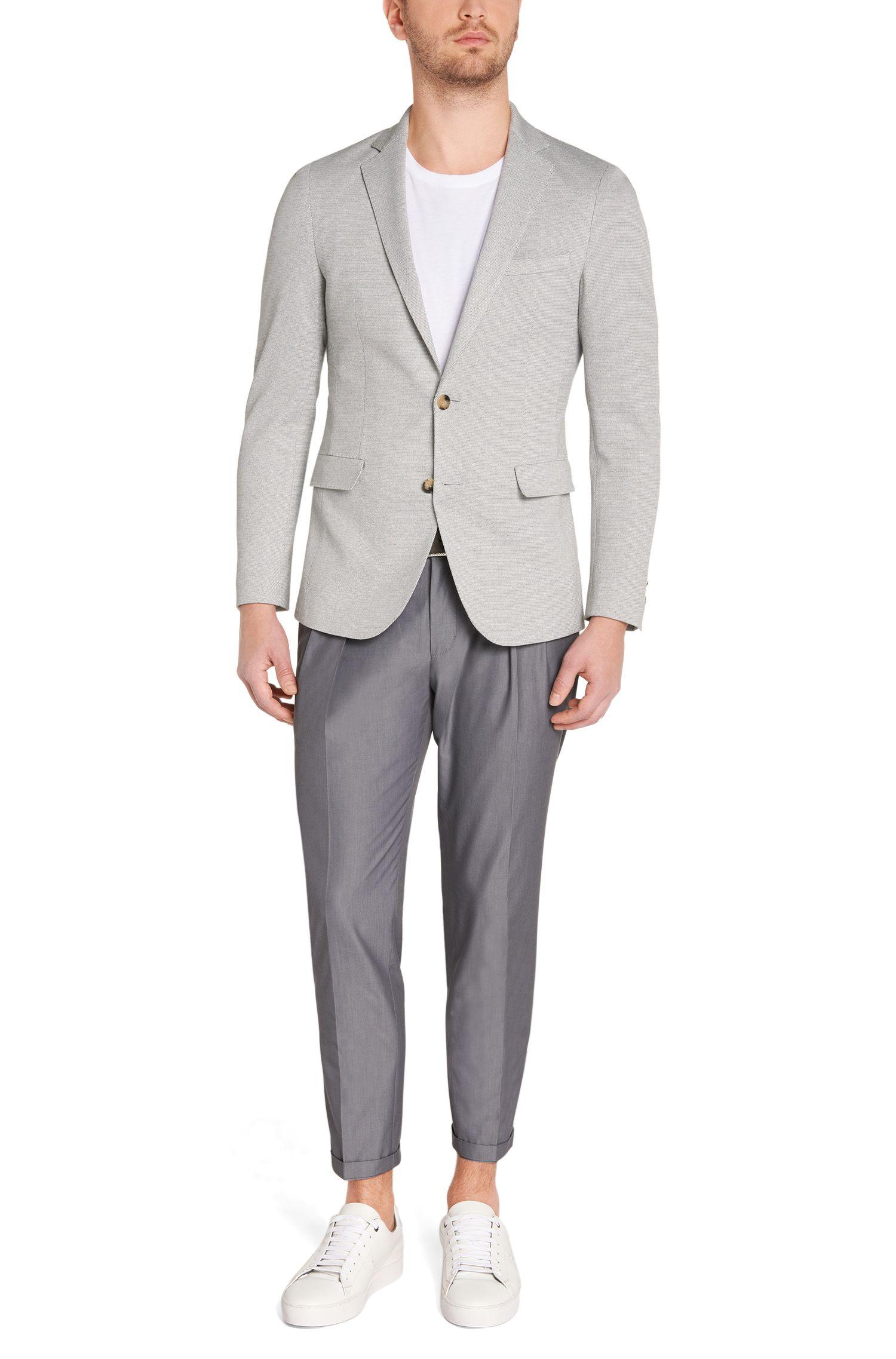 Unifarbene Extra Slim-Fit Hose aus Baumwolle: 'Pat'