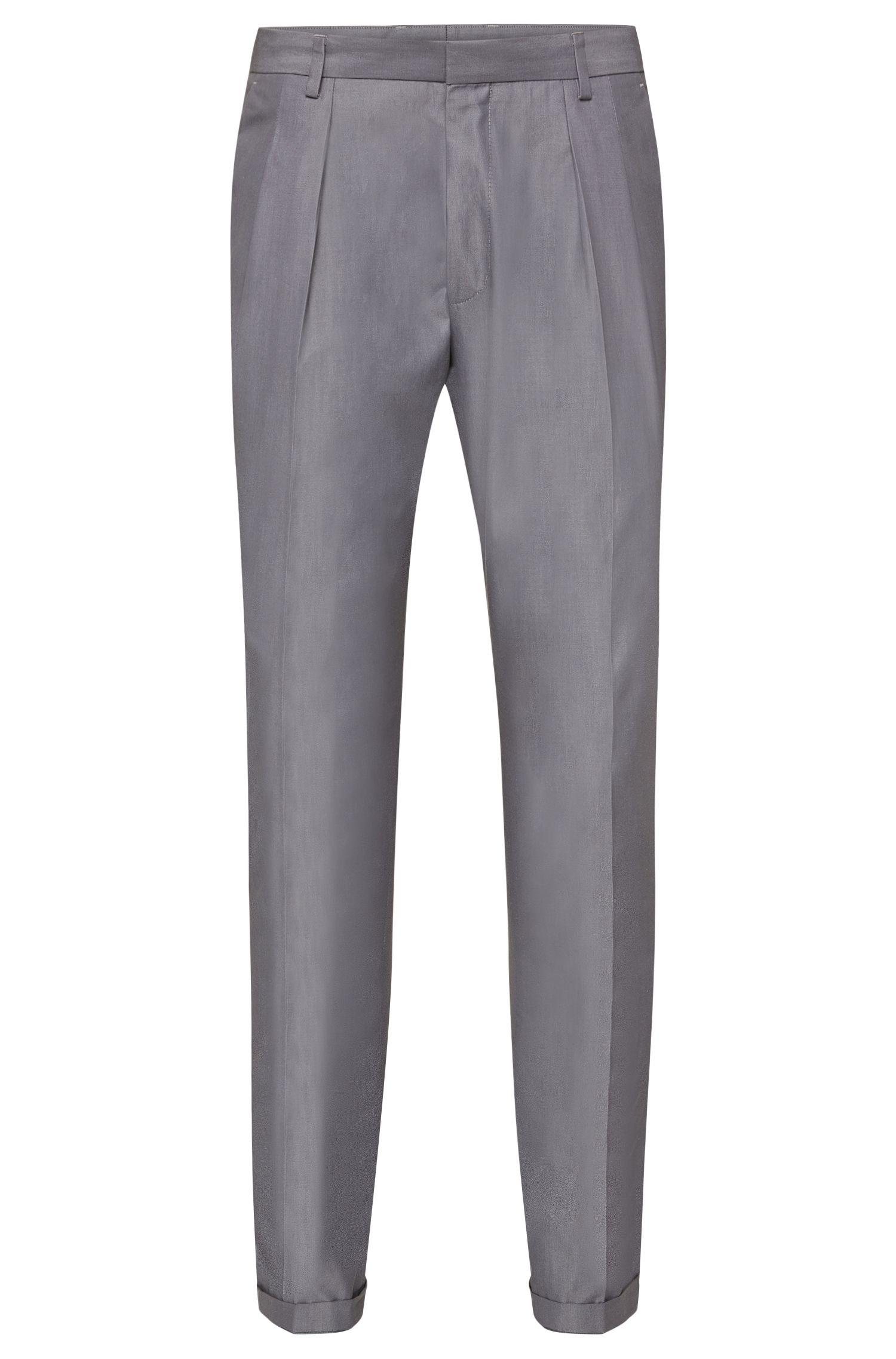 Pantaloni extra slim fit in cotone in tinta unita: 'Pat'