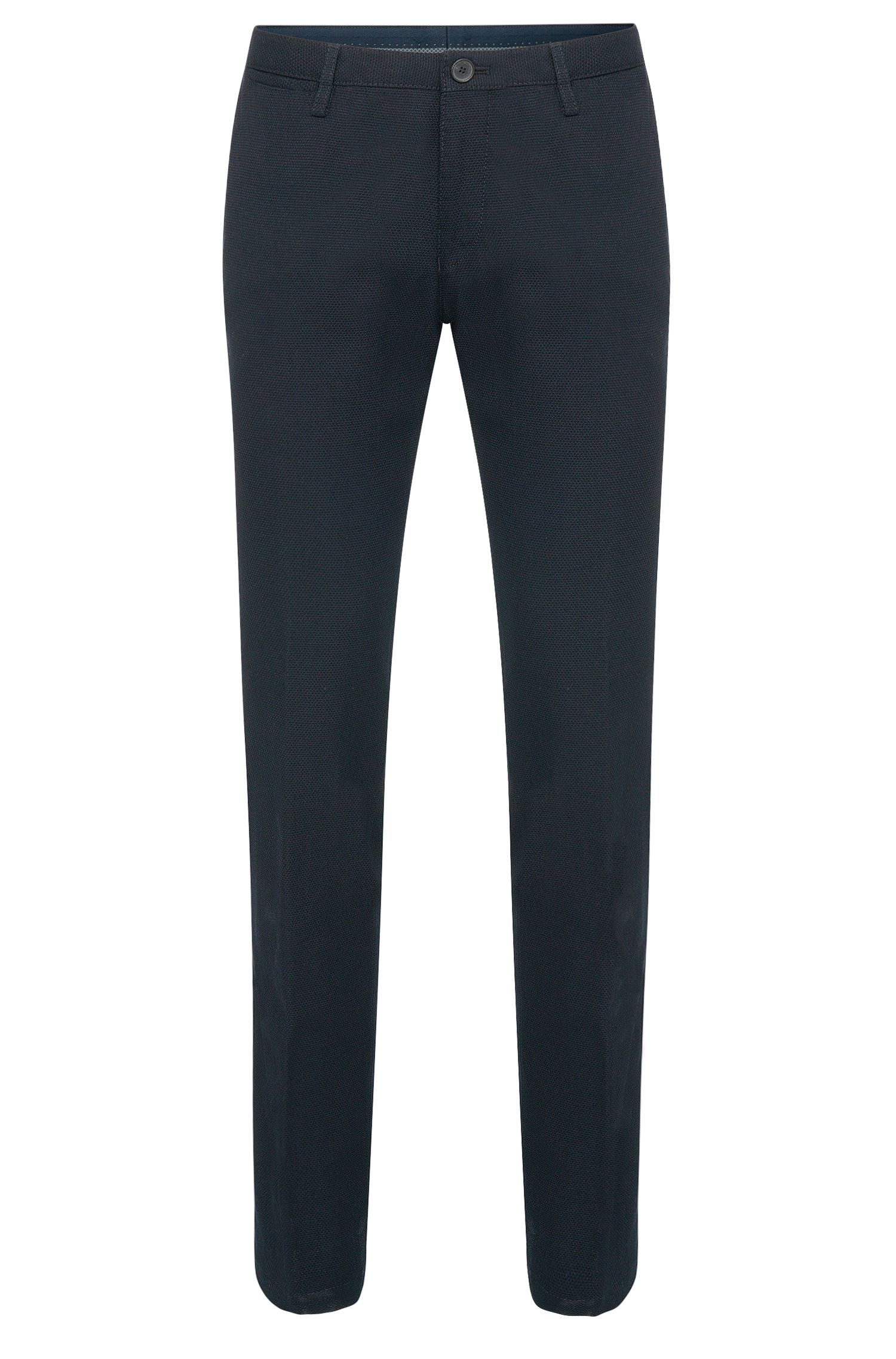 Chino structuré Slim Fit en coton : « Stanino 14-W »