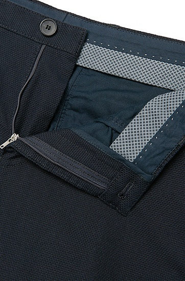 Strukturierte Slim-Fit Chino aus Baumwolle: 'Stanino 14-W', Dunkelblau