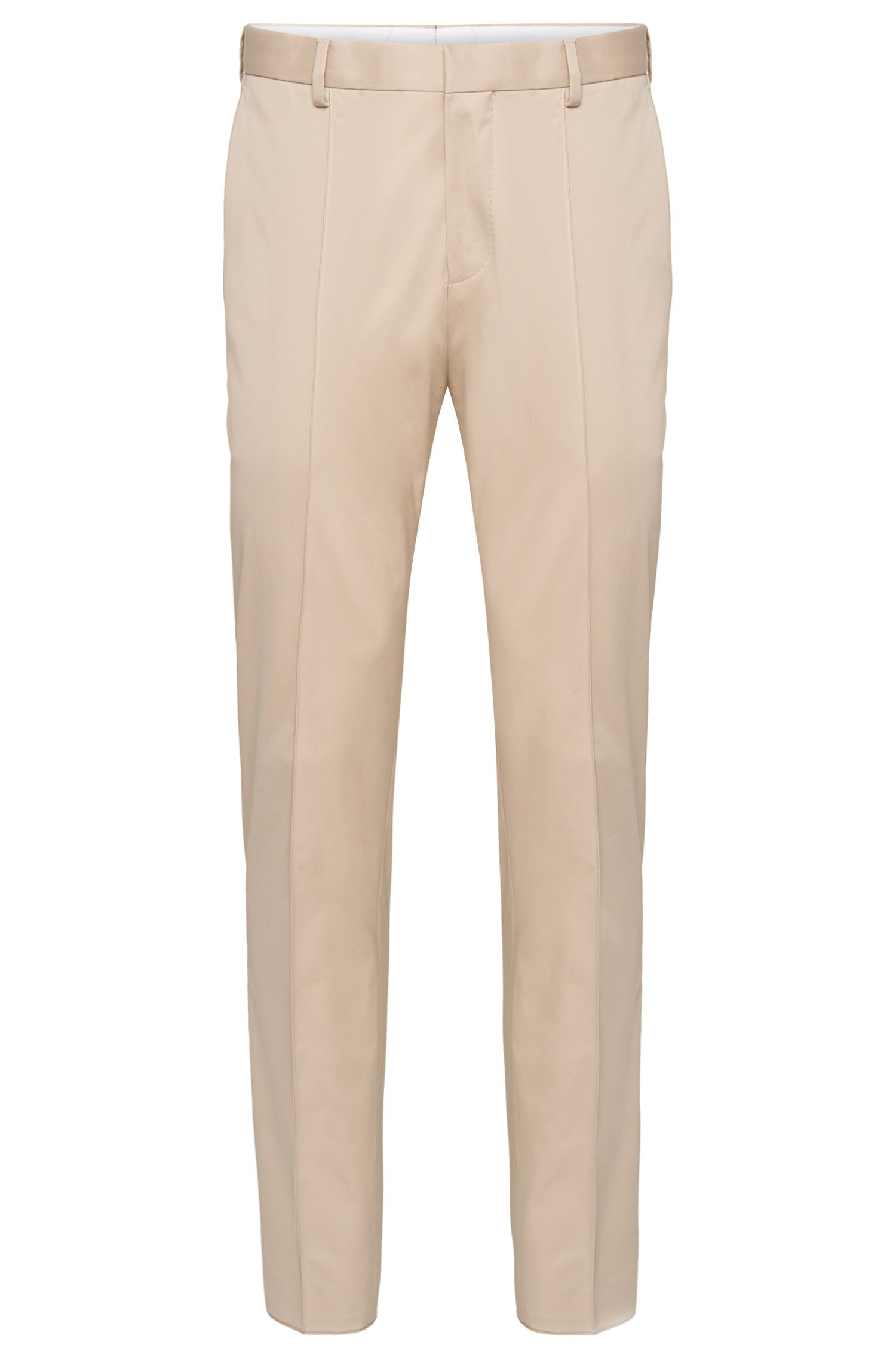 Regular-fit trousers in stretch cotton: 'Geometric'