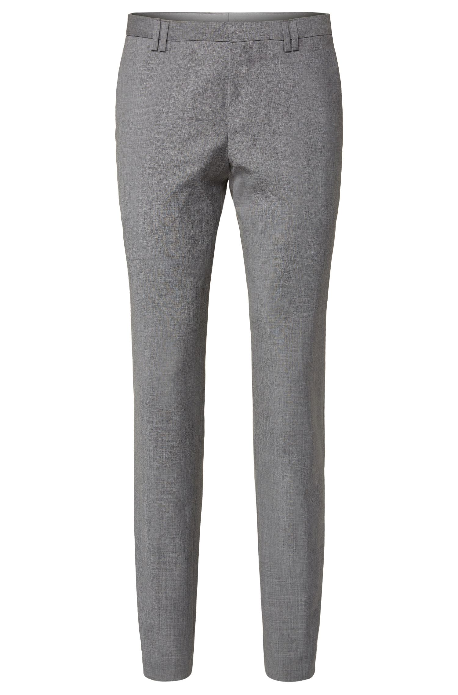 Slim-fit trousers in new-wool blend with cashmere: 'Brix'
