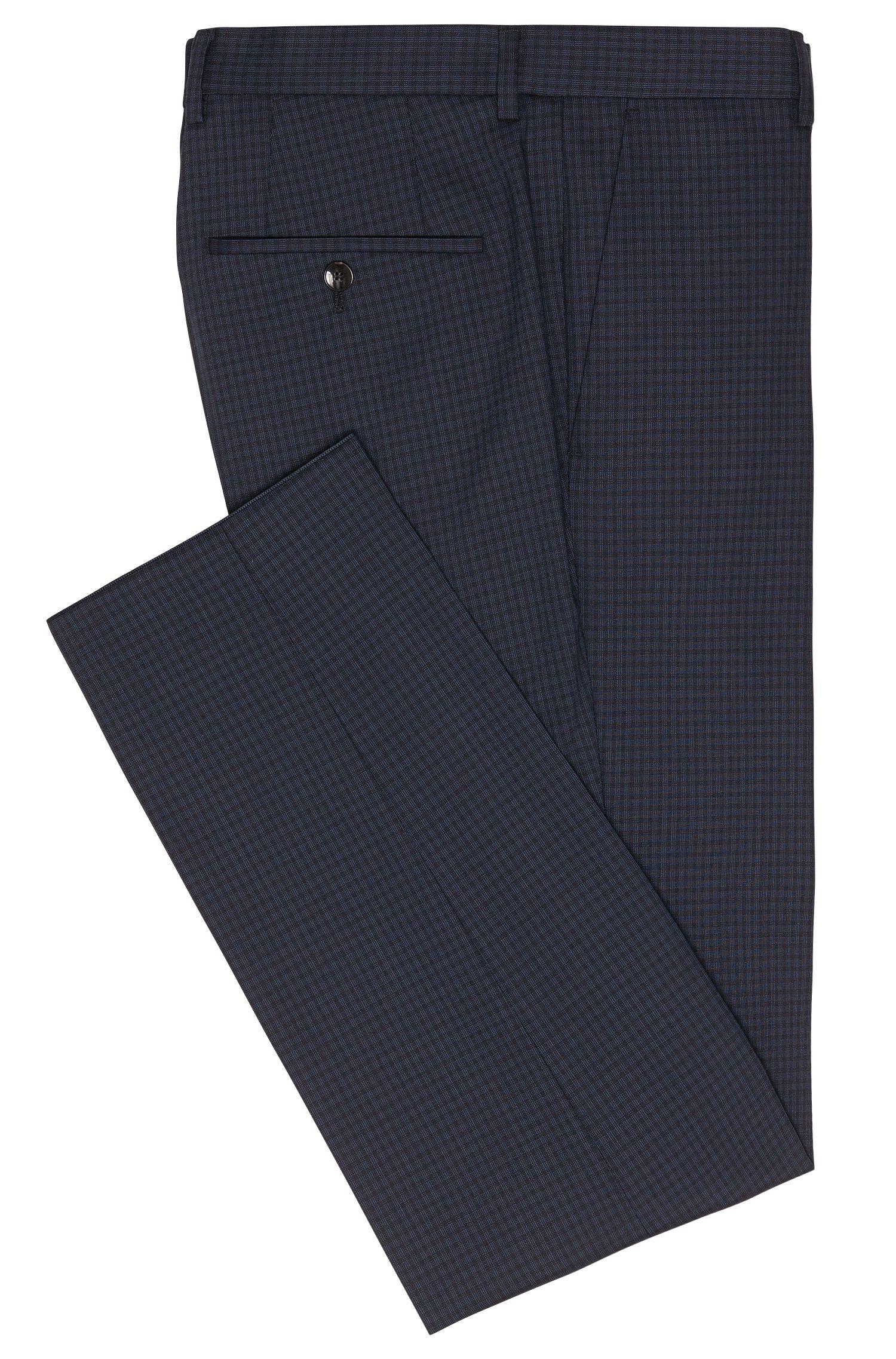 Pantalon Slim Fit en laine vierge à carreaux: «Genesis2»