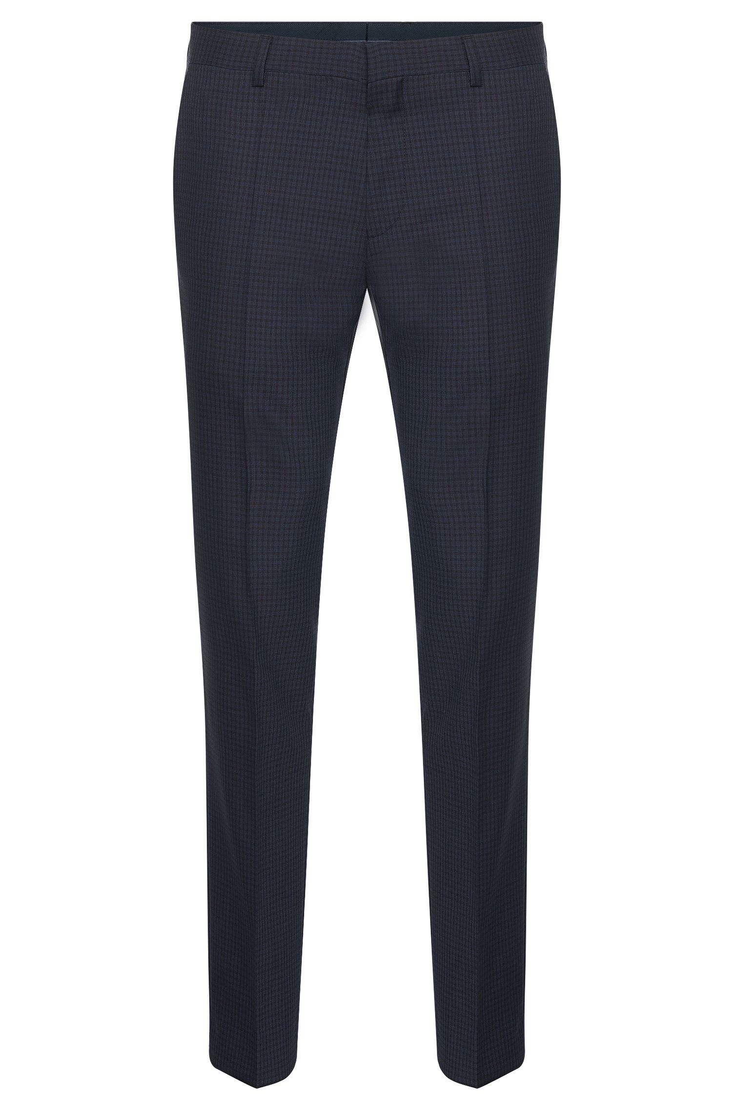 Pantalón slim fit con cuadros en lana virgen: 'Genesis2'