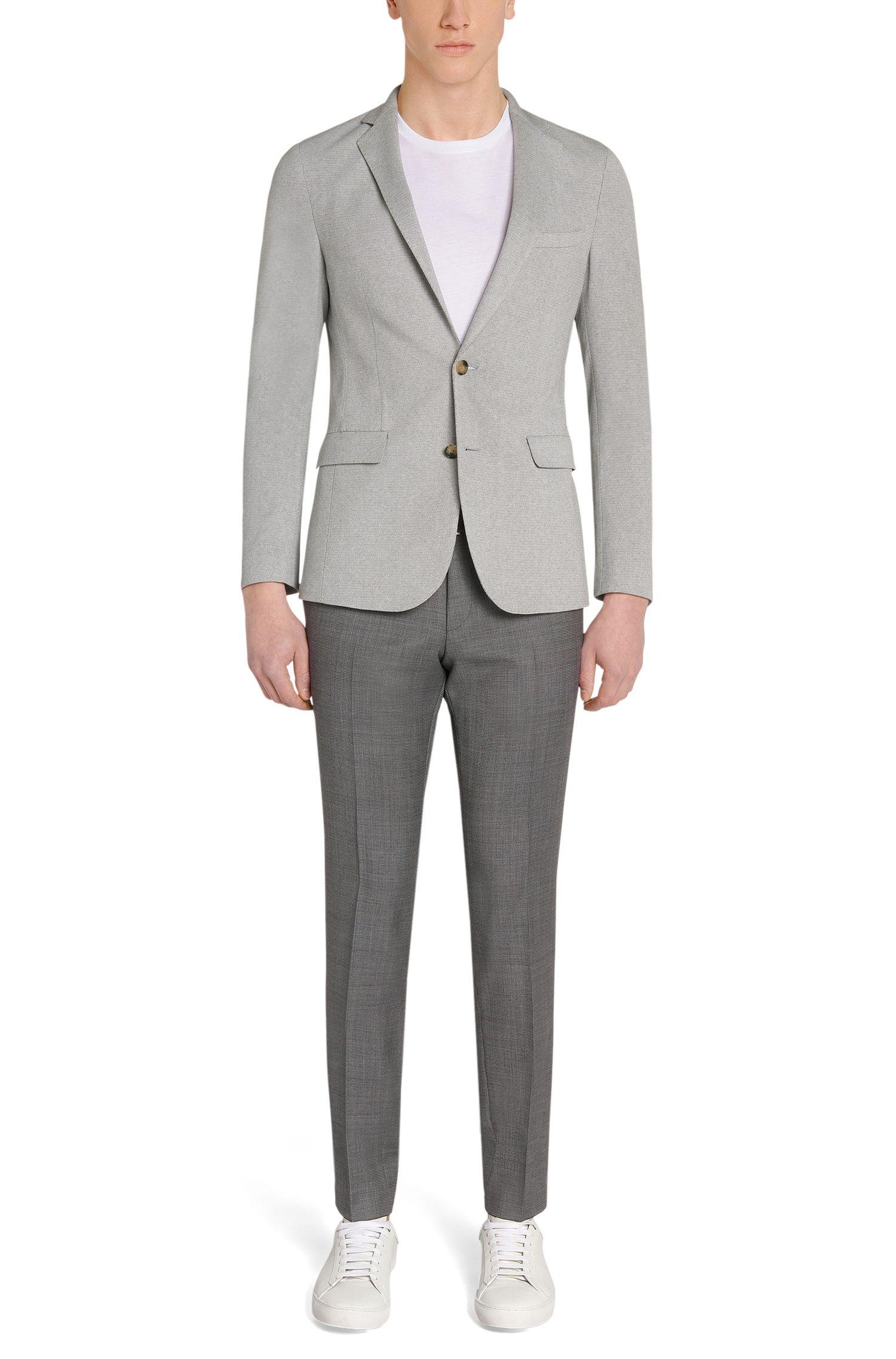 Pantalon extra Slim Fit à motif en laine vierge: «Willard1»