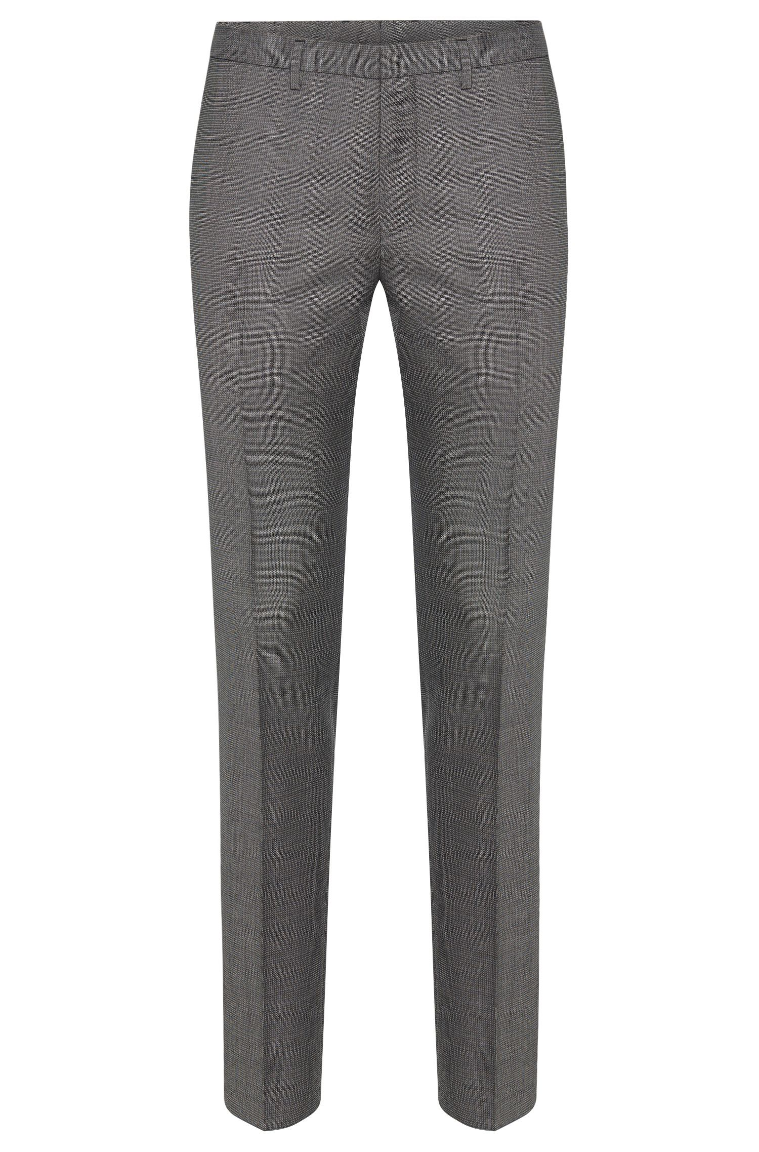 Patterned extra-slim-fit trousers in new wool: 'Willard1'