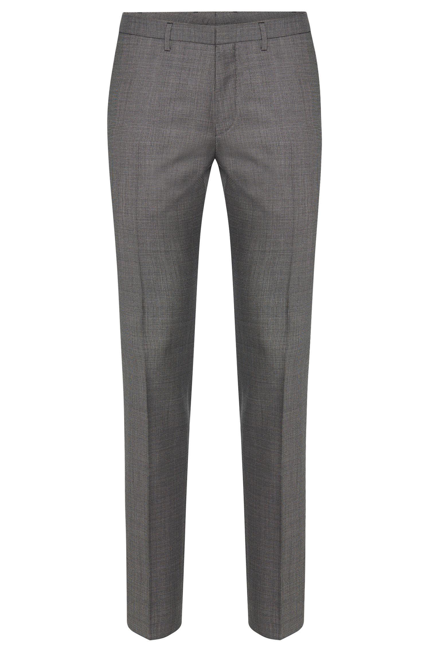 Gemusterte Extra Slim-Fit Hose aus Schurwolle: 'Willard1'