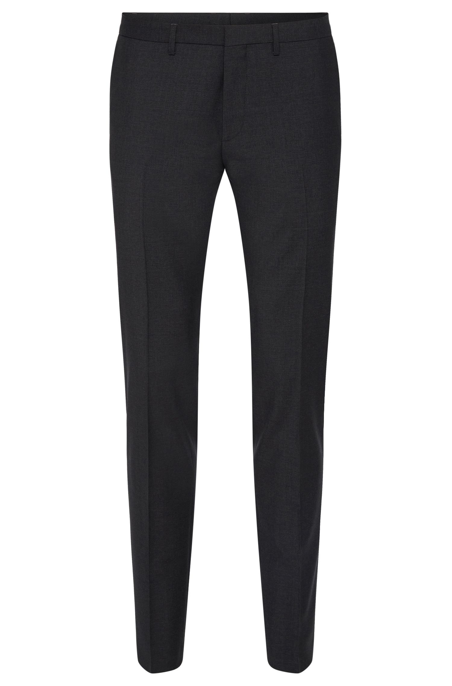 Extra-slim-fit trousers in new wool with contrasting panels: 'Willard 1'