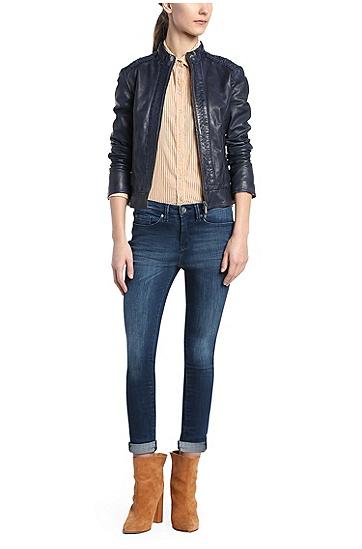 Knöchellange Slim-Fit Jeans aus Stretch-Baumwolle: ´Orange J10 Florida`, Dunkelblau
