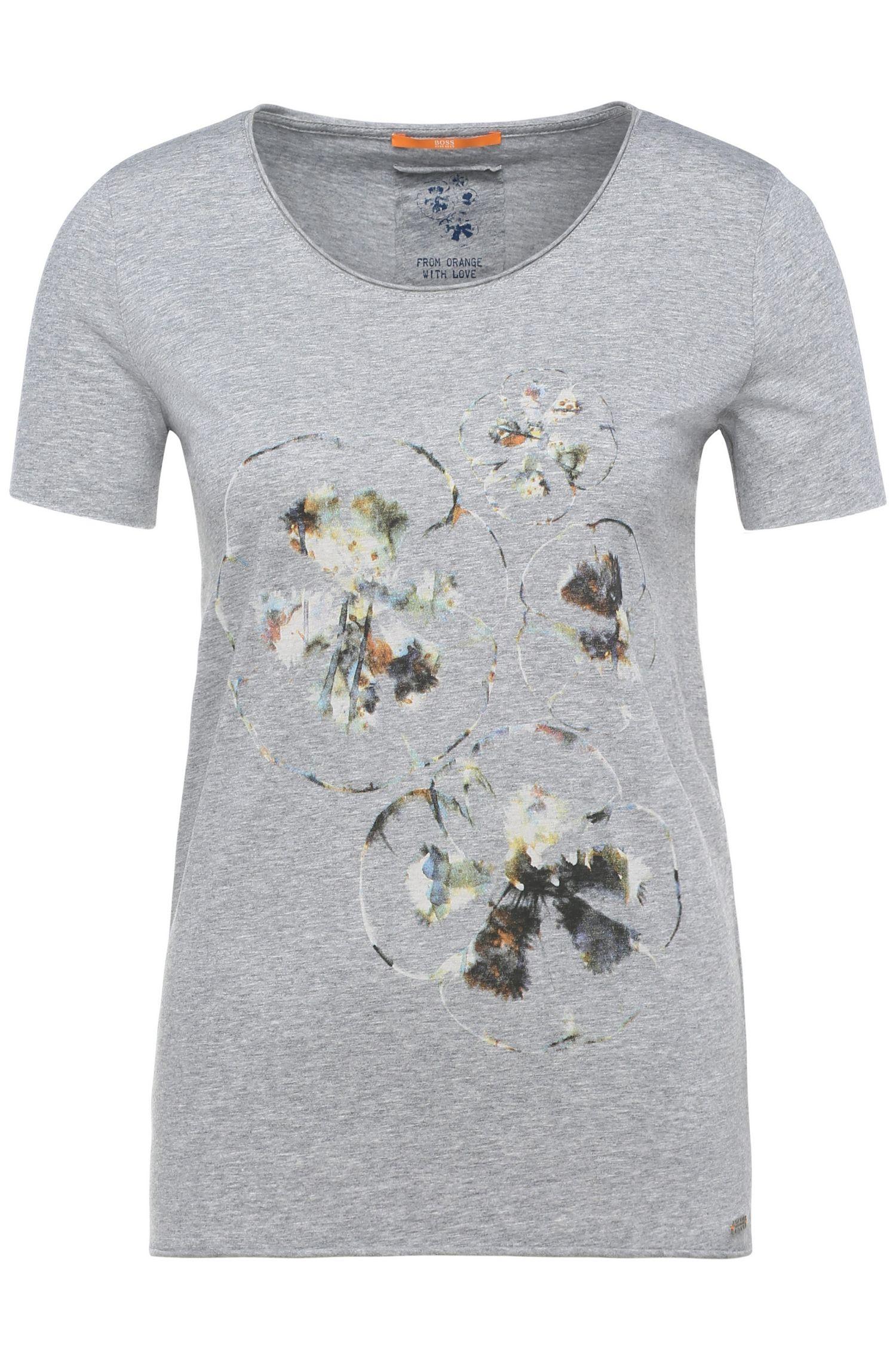 Maglietta slim fit stampata in cotone: 'Tashirt'