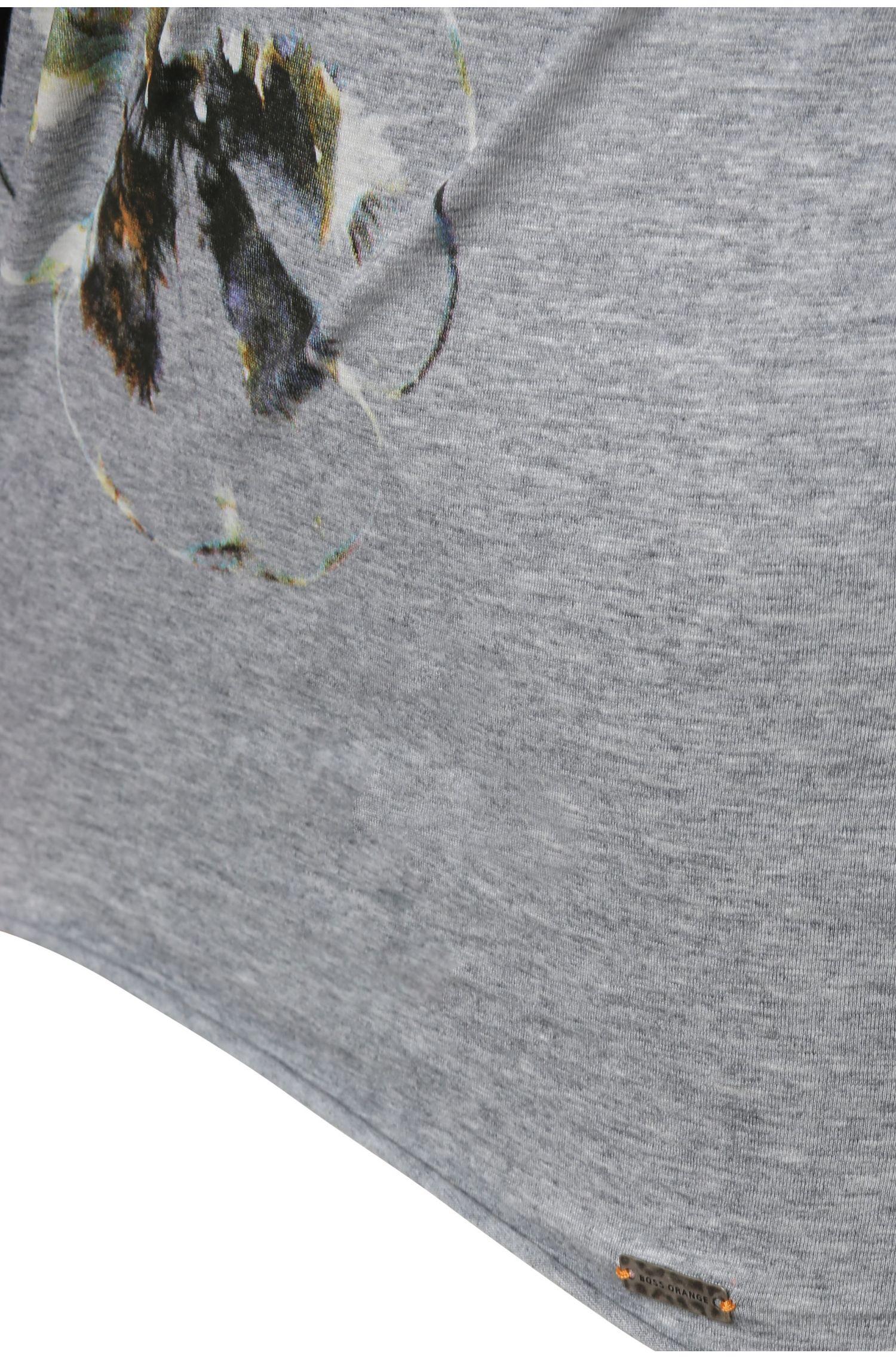 Slim-fit shirt van katoen met print: 'Tashirt'