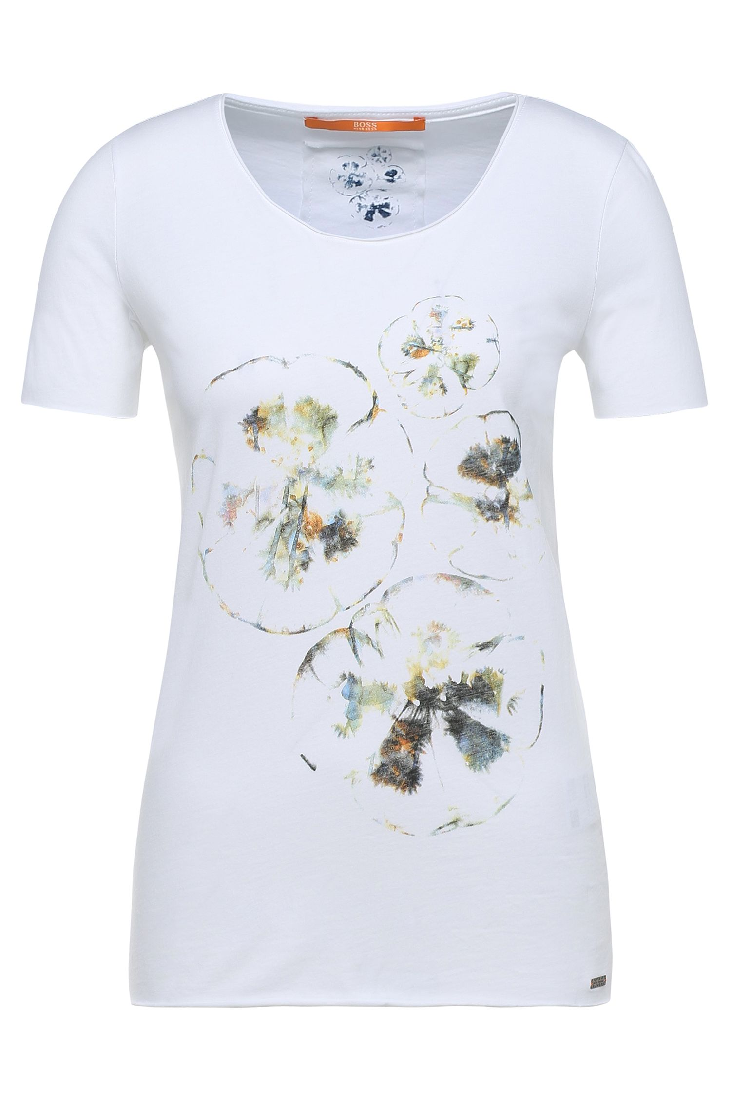 T-shirt Slim Fit en coton imprimé: «Tashirt»