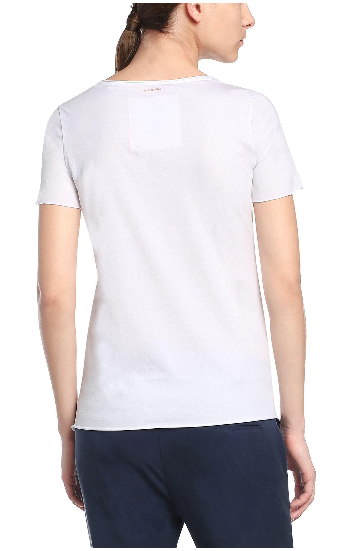 T-shirt imprimé en coton: «T-shirt»