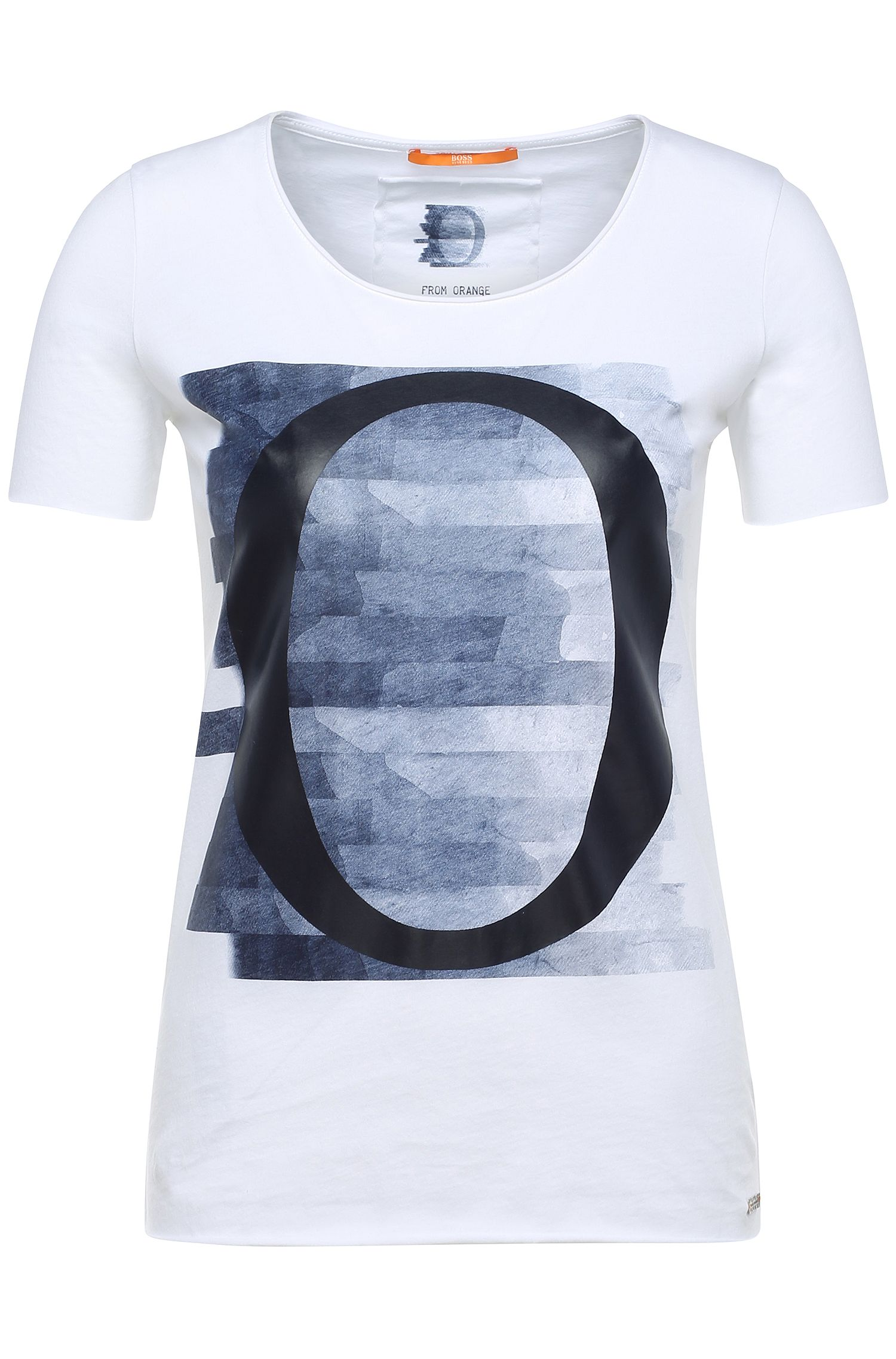 T-shirt stampata in cotone: 'T-shirt'