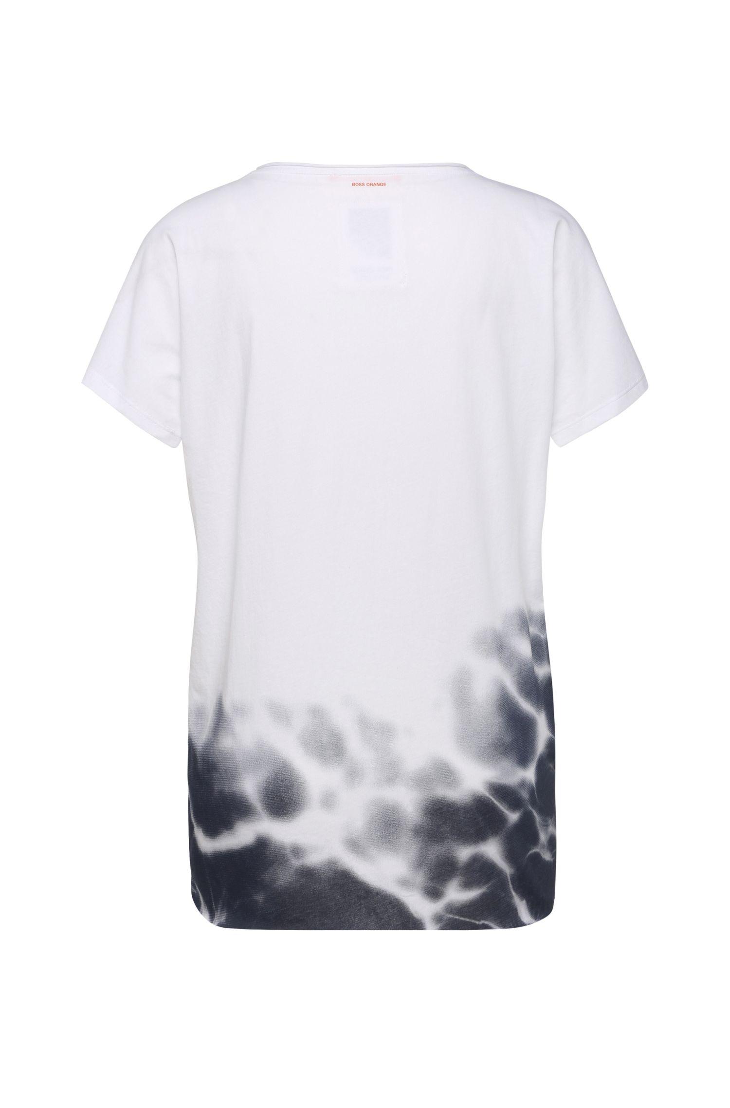 T-Shirt aus Baumwolle mit Print in Batik-Optik: ´Talmayse`