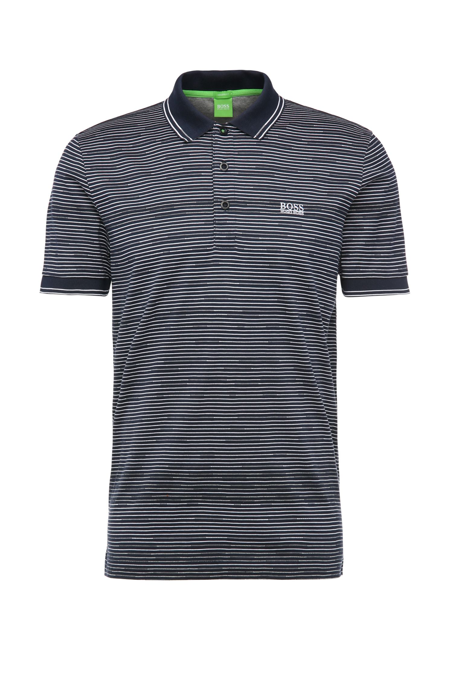 Striped, regular-fit polo shirt in jersey: 'Paddy 2'