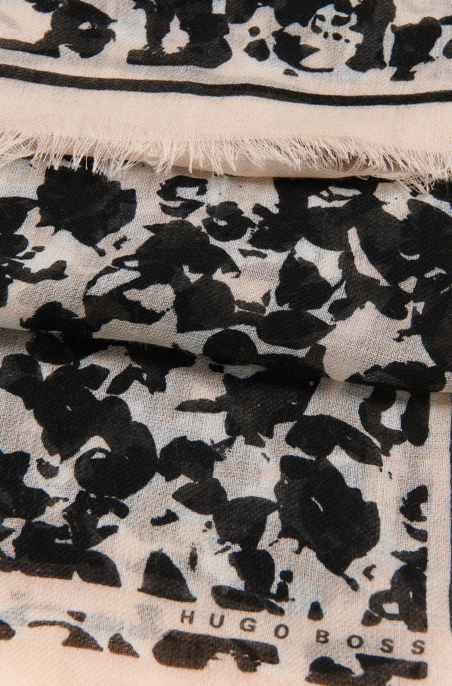 Gemusterter Schal aus Wolle: 'Lenori'