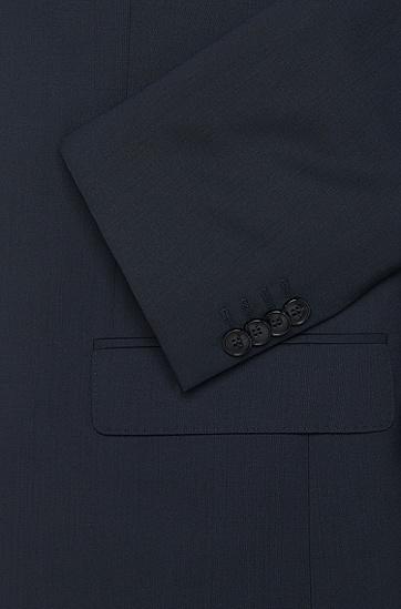 男士休闲单排两粒扣西装外套,  401_暗蓝色