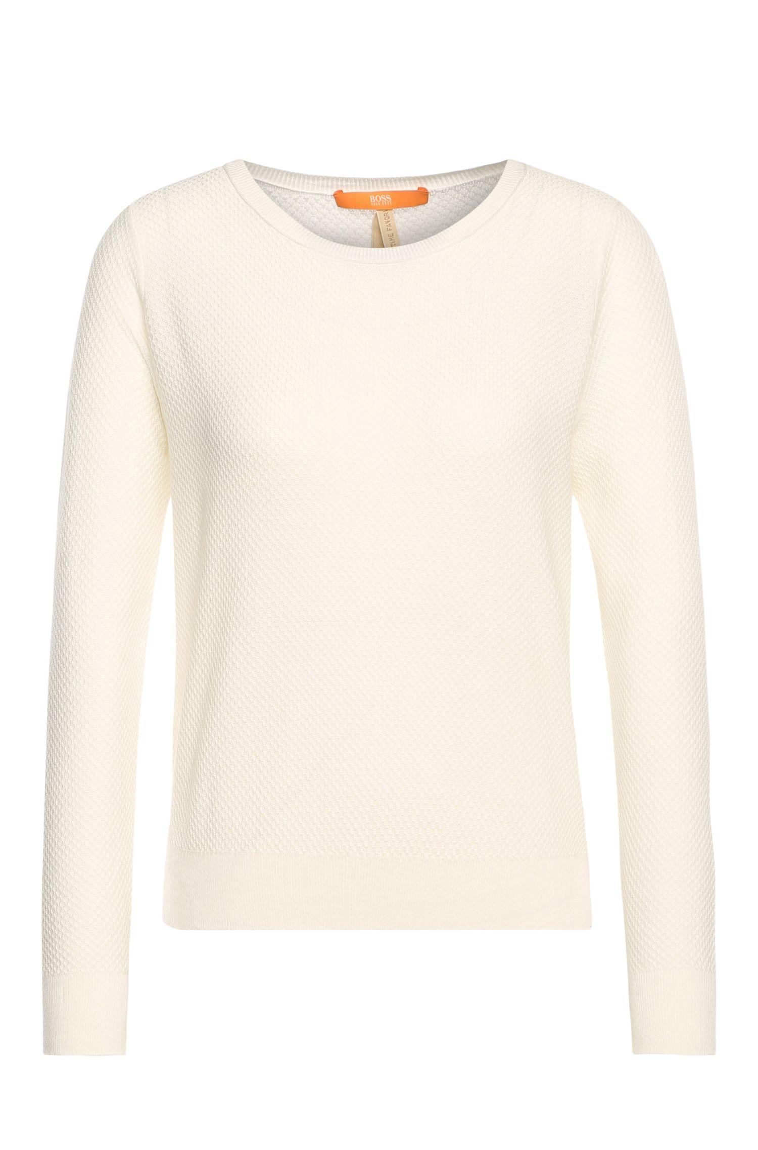 Jersey en mezcla de algodón en punto con textura: 'Injkey'