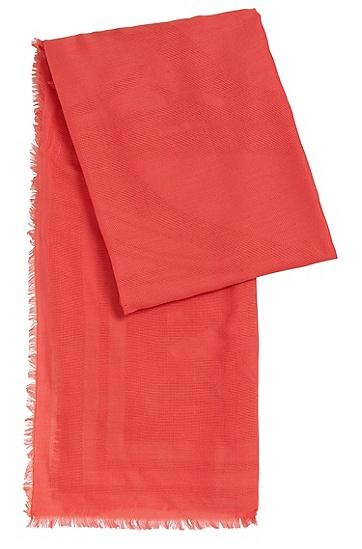 Schal aus Baumwoll-Mix mit Lochmuster: 'Lafita', Pink