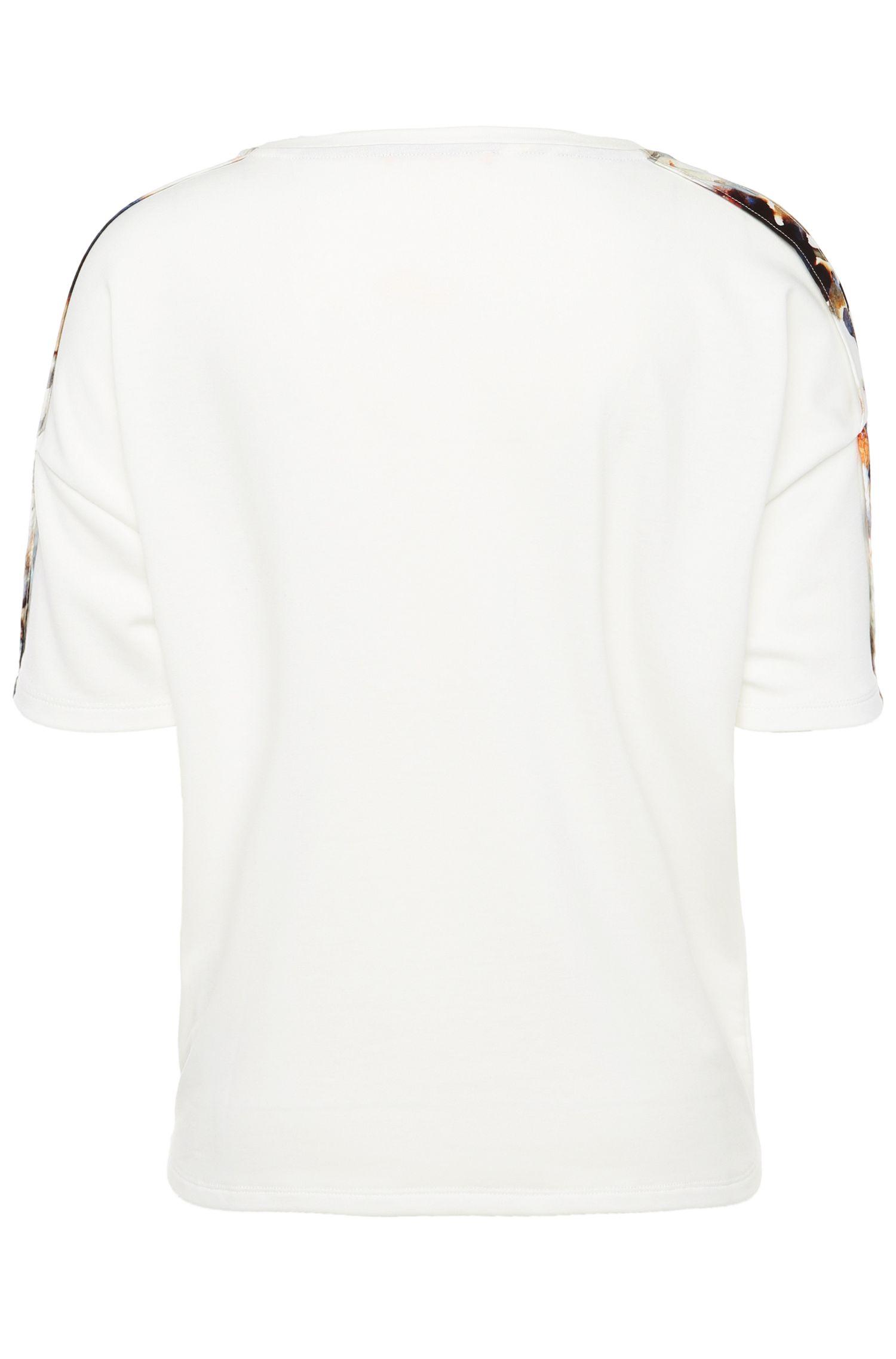 Bedrucktes Regular-Fit T-Shirt im Material-Mix: ´Tamodern`