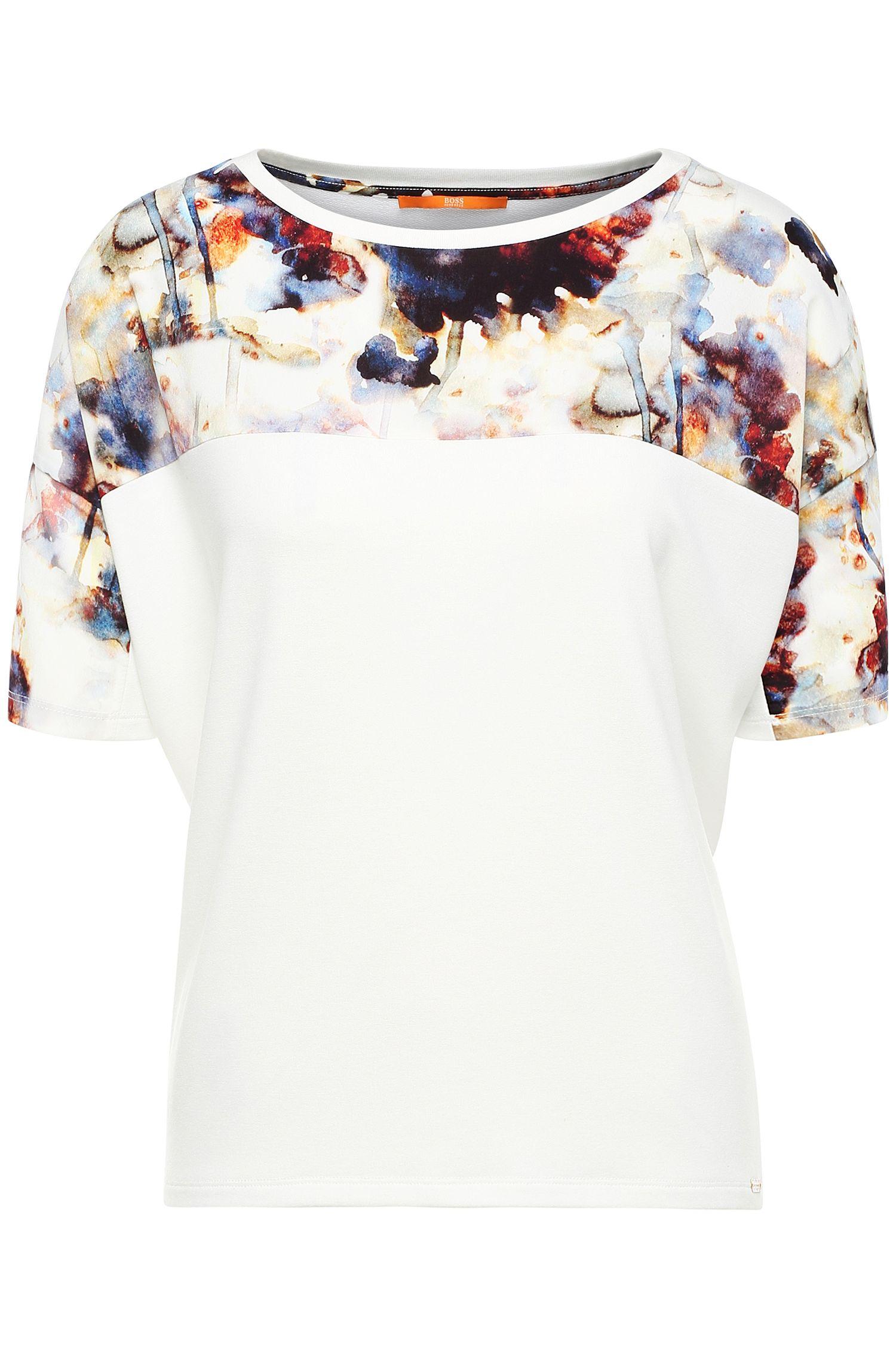 Camiseta impresa regular fit en mezcla de materiales: 'Tamodern'